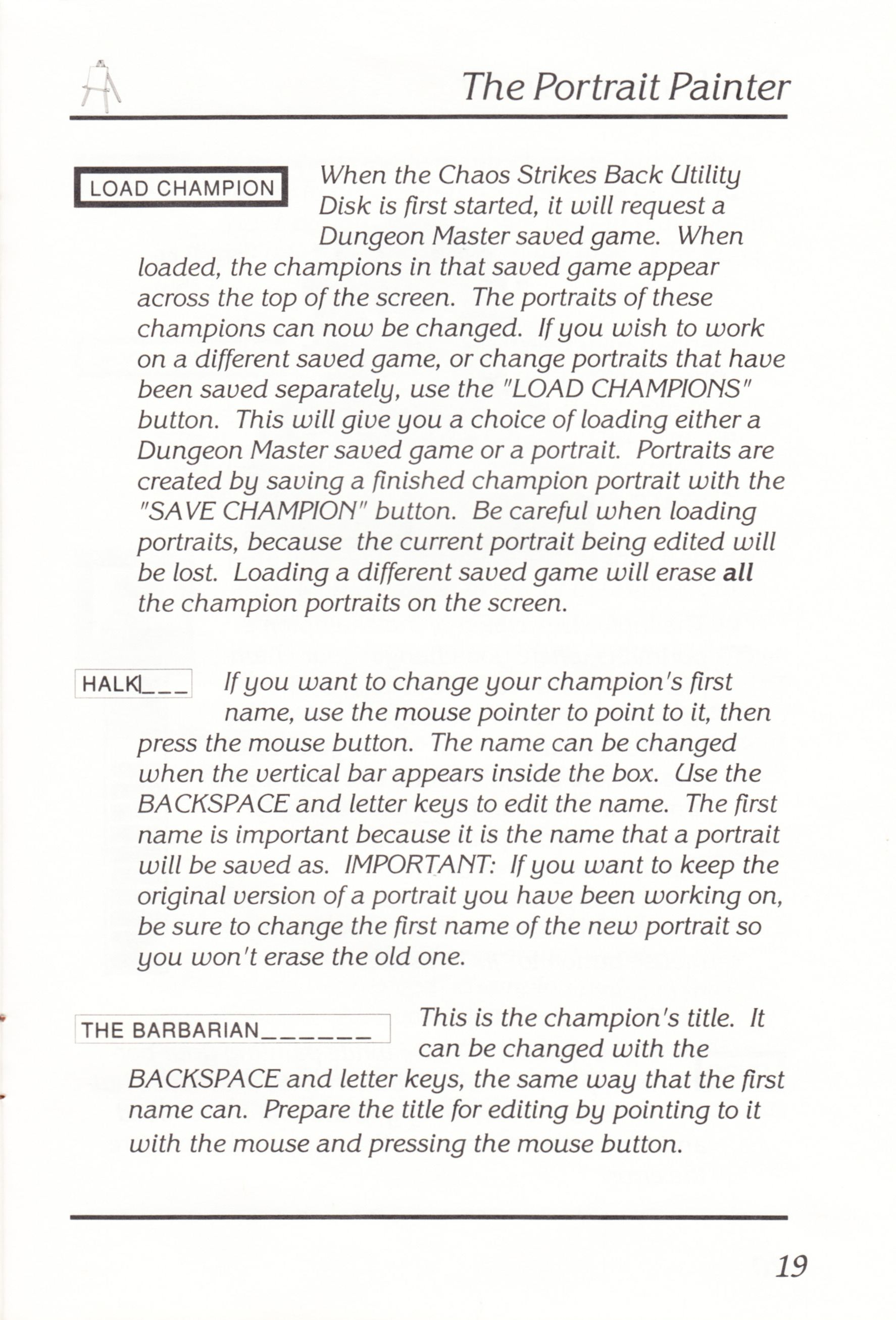 Game - Chaos Strikes Back - UK - Atari ST - Manual - Page 021 - Scan