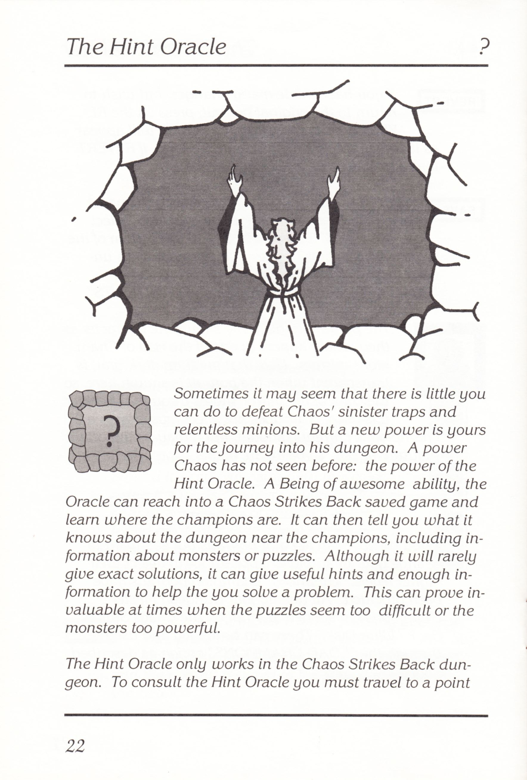 Game - Chaos Strikes Back - UK - Atari ST - Manual - Page 024 - Scan