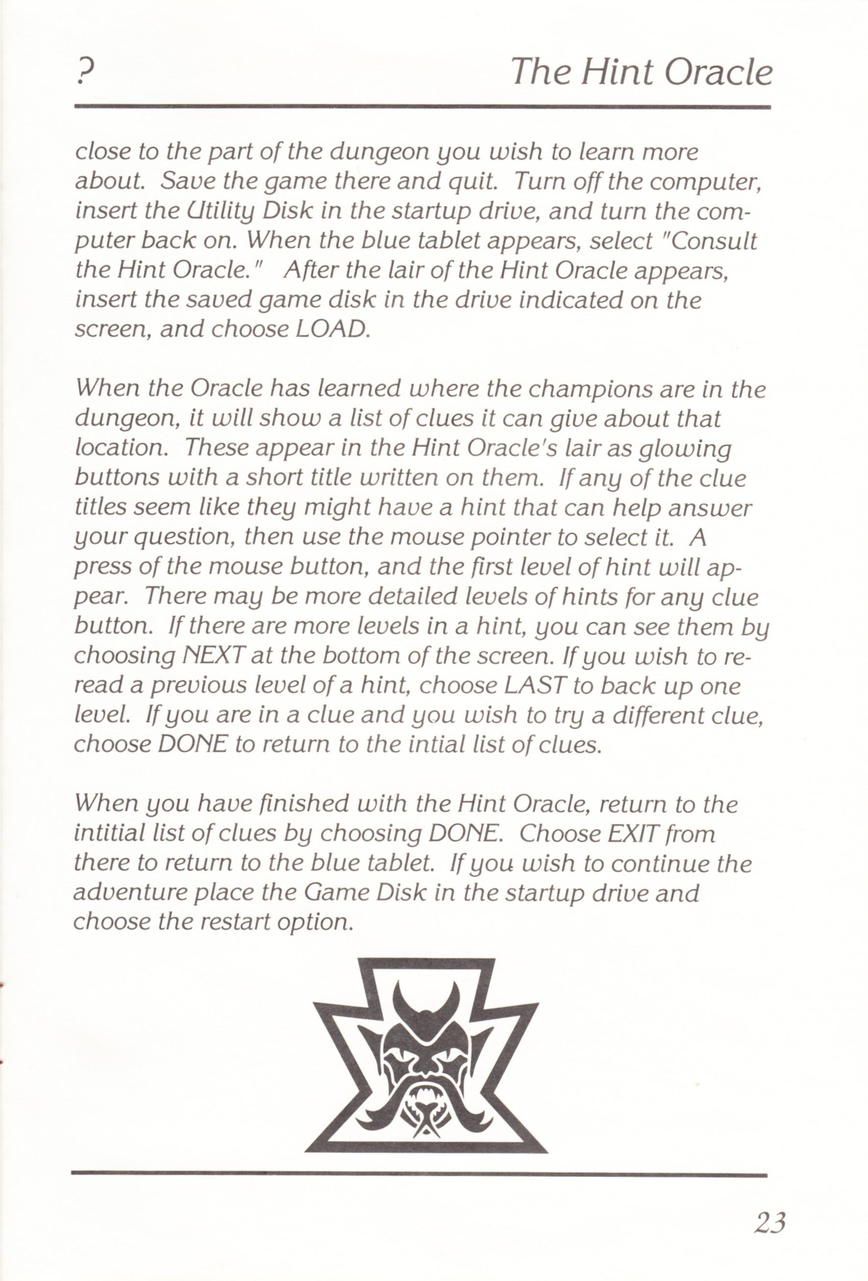 Game - Chaos Strikes Back - UK - Atari ST - Manual - Page 025 - Scan
