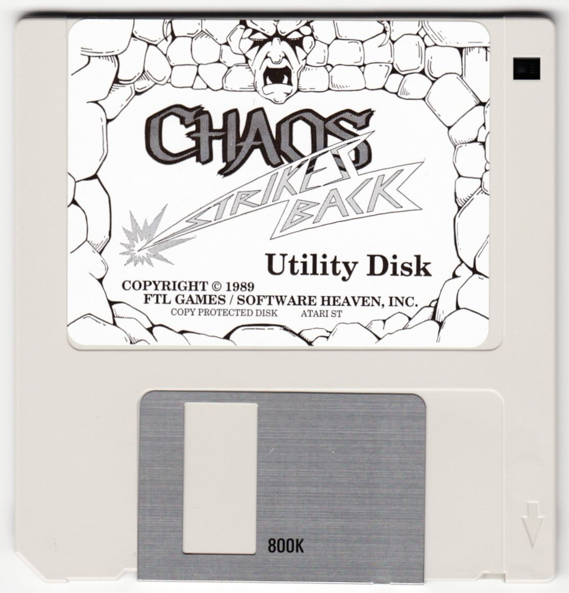 Game - Chaos Strikes Back - UK - Atari ST - Utility Disk - Front - Scan