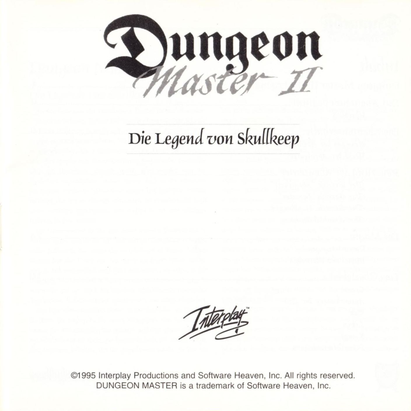 Game - Dungeon Master II - DE - PC - Blackmarket With Booklet - Booklet - Page 003 - Scan