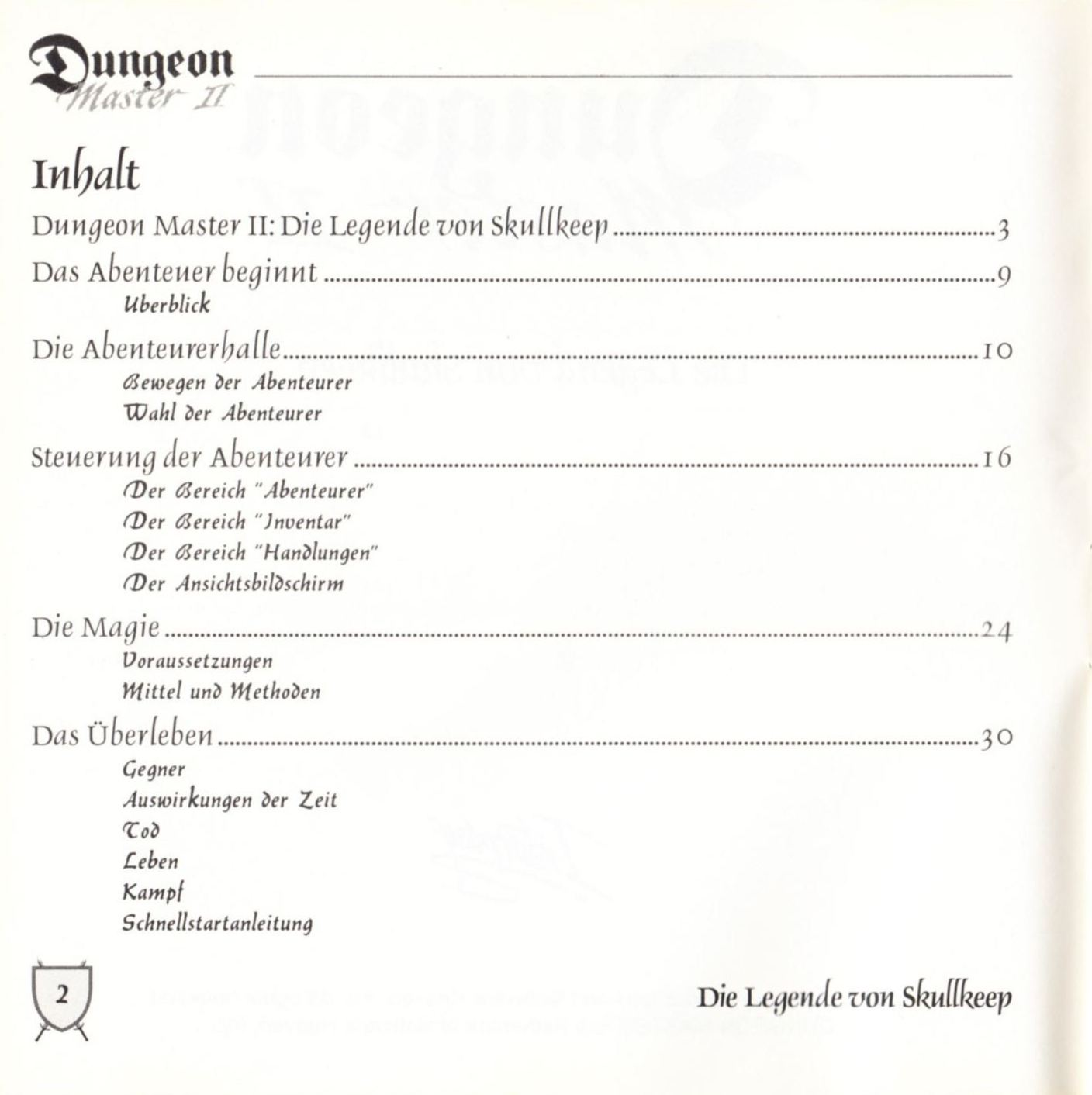 Game - Dungeon Master II - DE - PC - Blackmarket With Booklet - Booklet - Page 004 - Scan