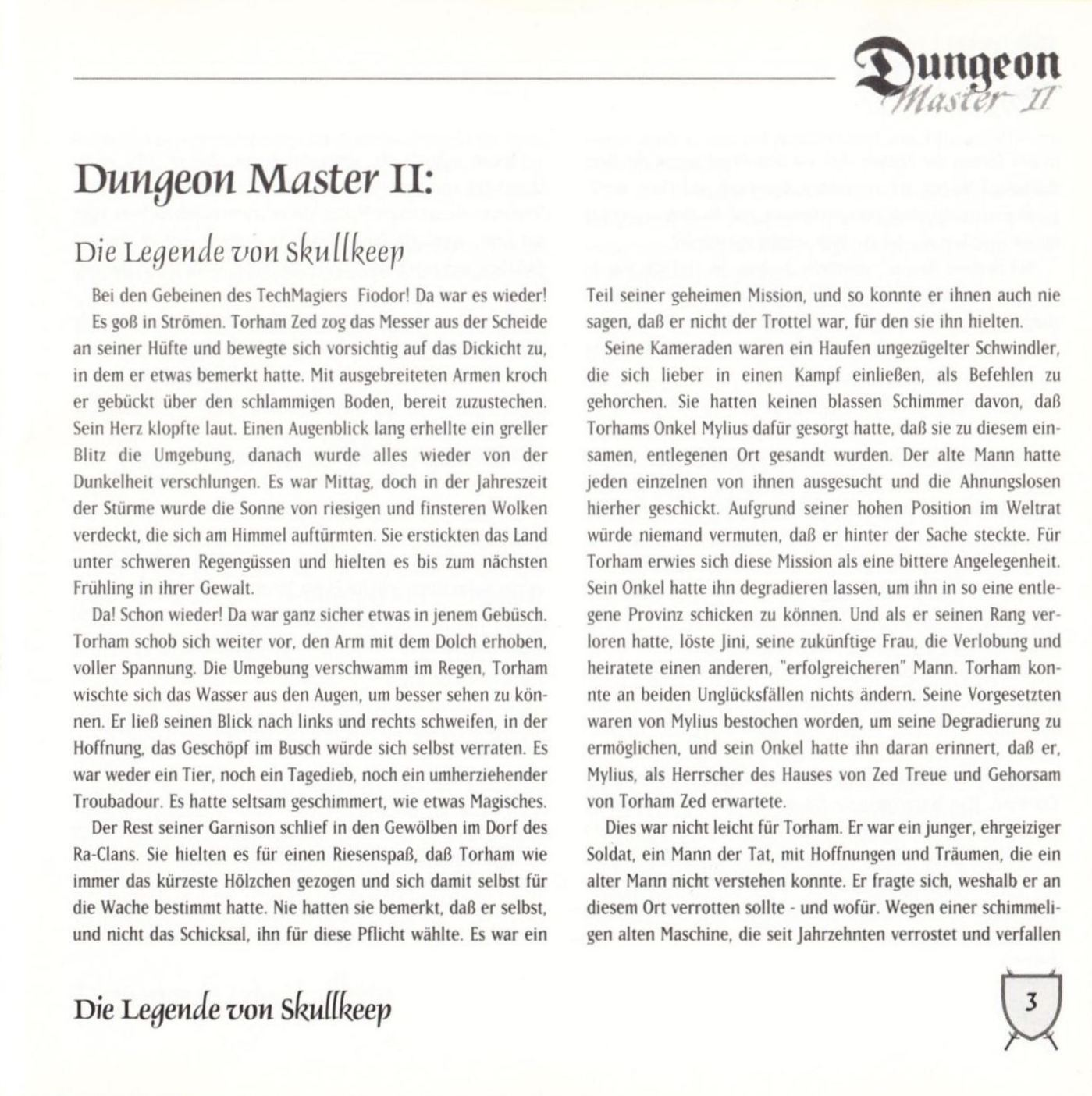 Game - Dungeon Master II - DE - PC - Blackmarket With Booklet - Booklet - Page 005 - Scan