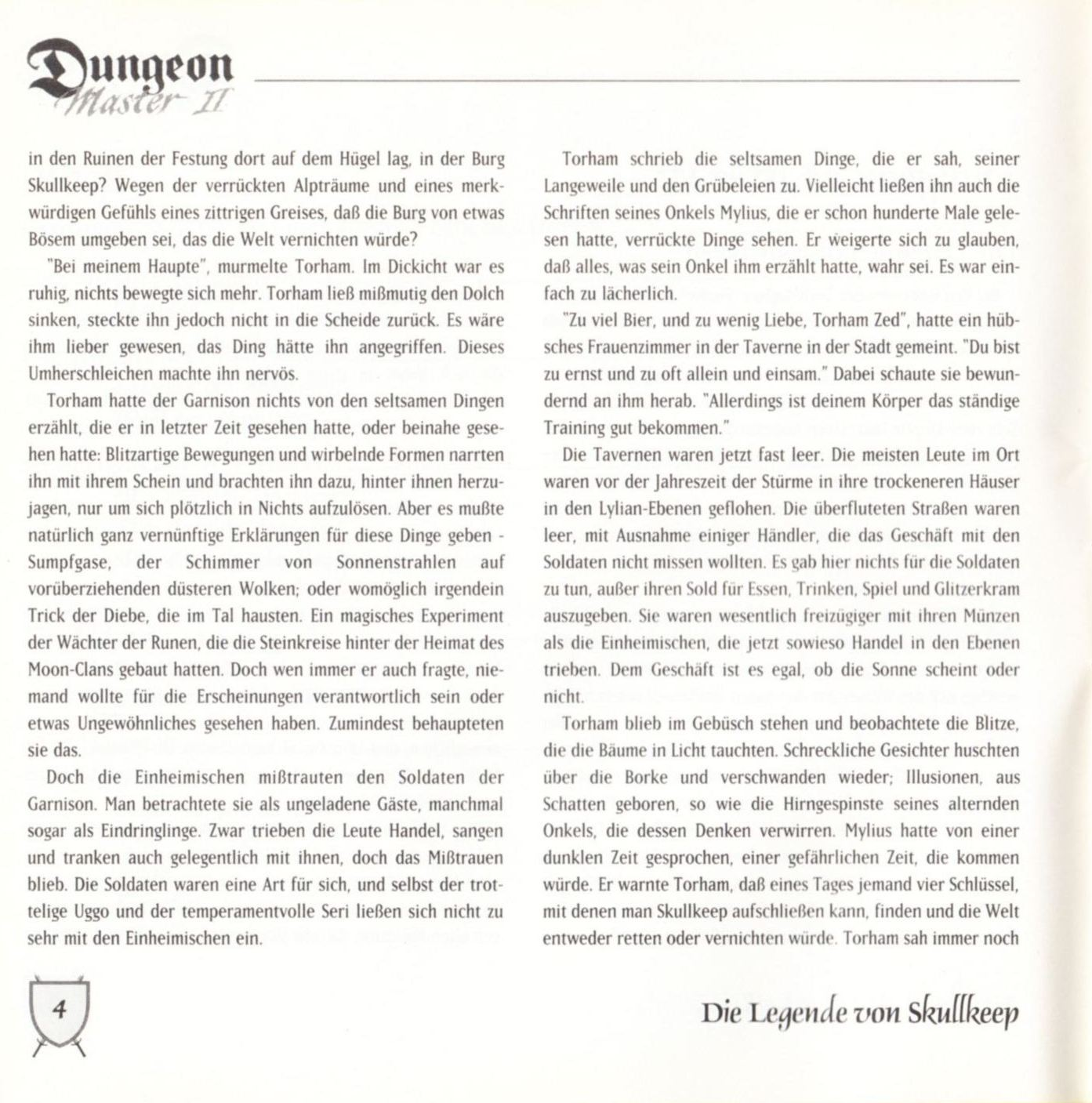 Game - Dungeon Master II - DE - PC - Blackmarket With Booklet - Booklet - Page 006 - Scan