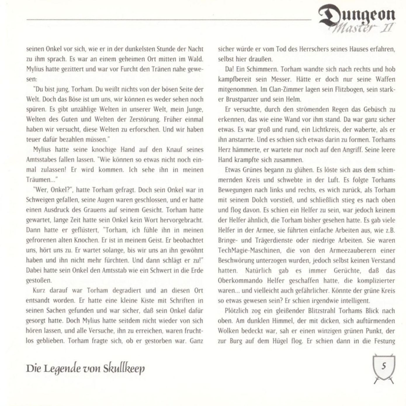 Game - Dungeon Master II - DE - PC - Blackmarket With Booklet - Booklet - Page 007 - Scan