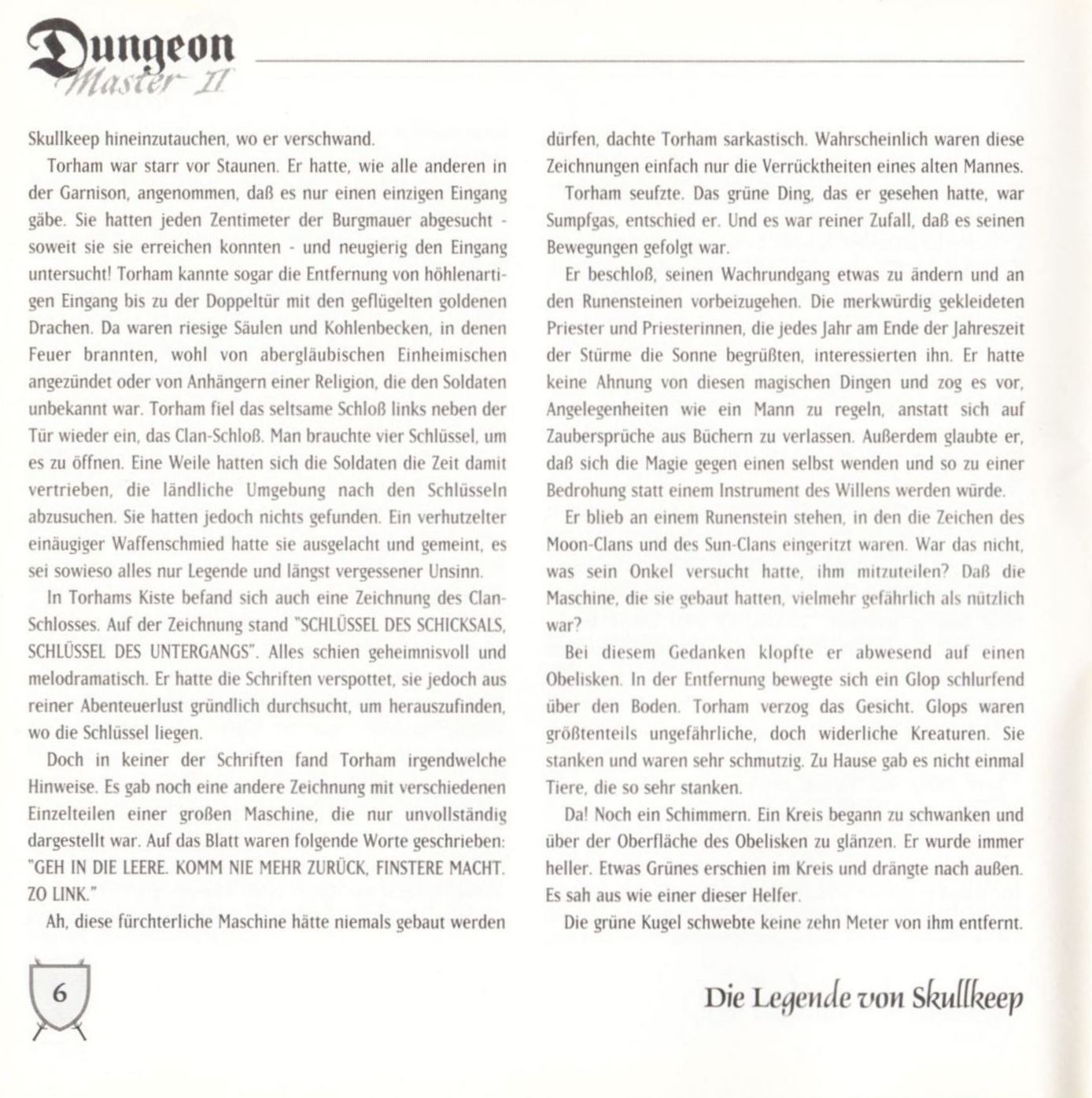 Game - Dungeon Master II - DE - PC - Blackmarket With Booklet - Booklet - Page 008 - Scan