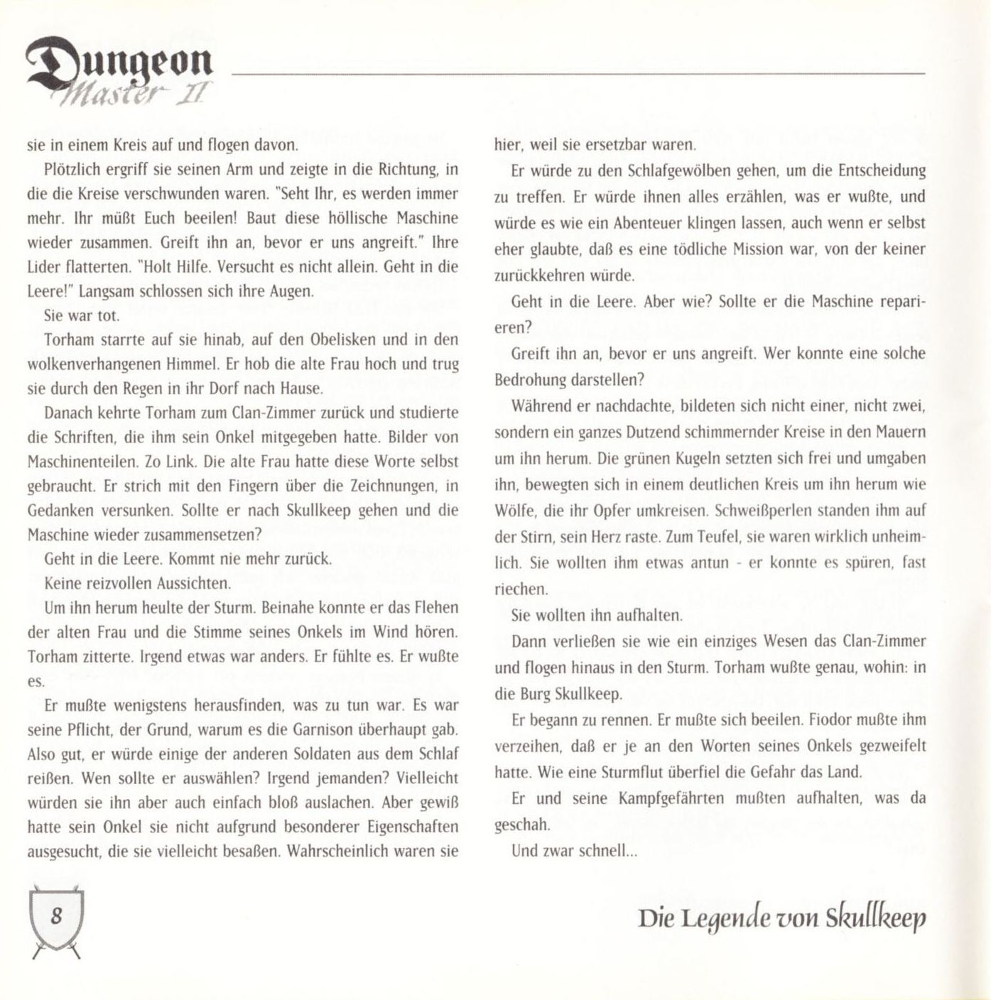 Game - Dungeon Master II - DE - PC - Blackmarket With Booklet - Booklet - Page 010 - Scan