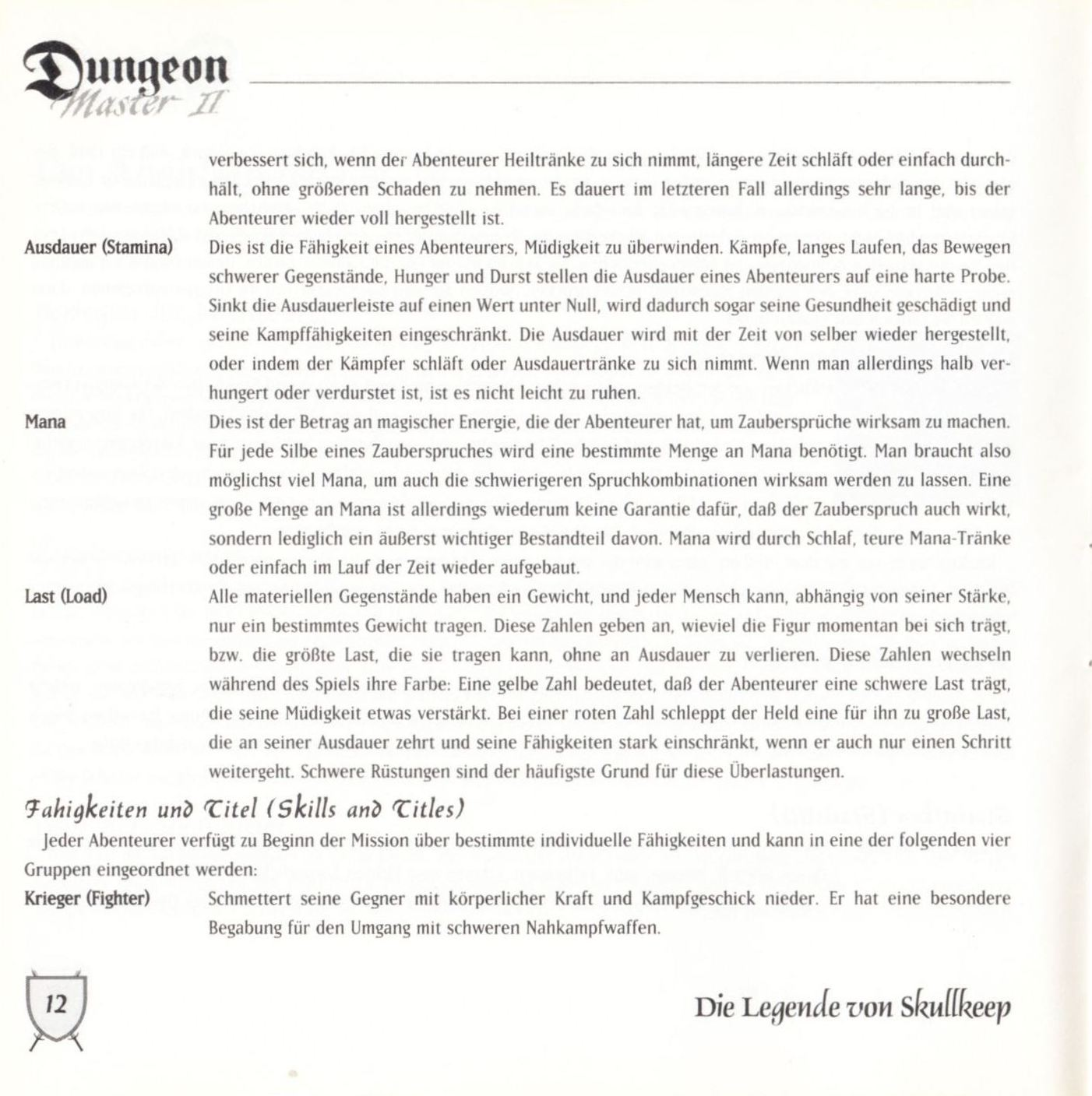 Game - Dungeon Master II - DE - PC - Blackmarket With Booklet - Booklet - Page 014 - Scan