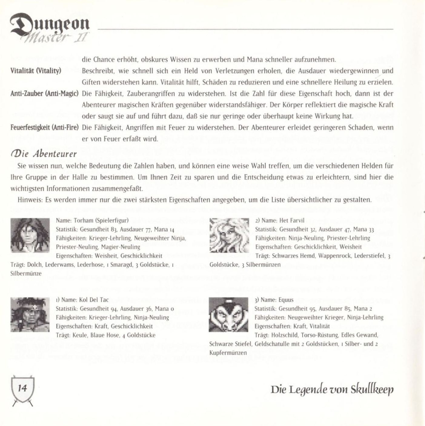 Game - Dungeon Master II - DE - PC - Blackmarket With Booklet - Booklet - Page 016 - Scan