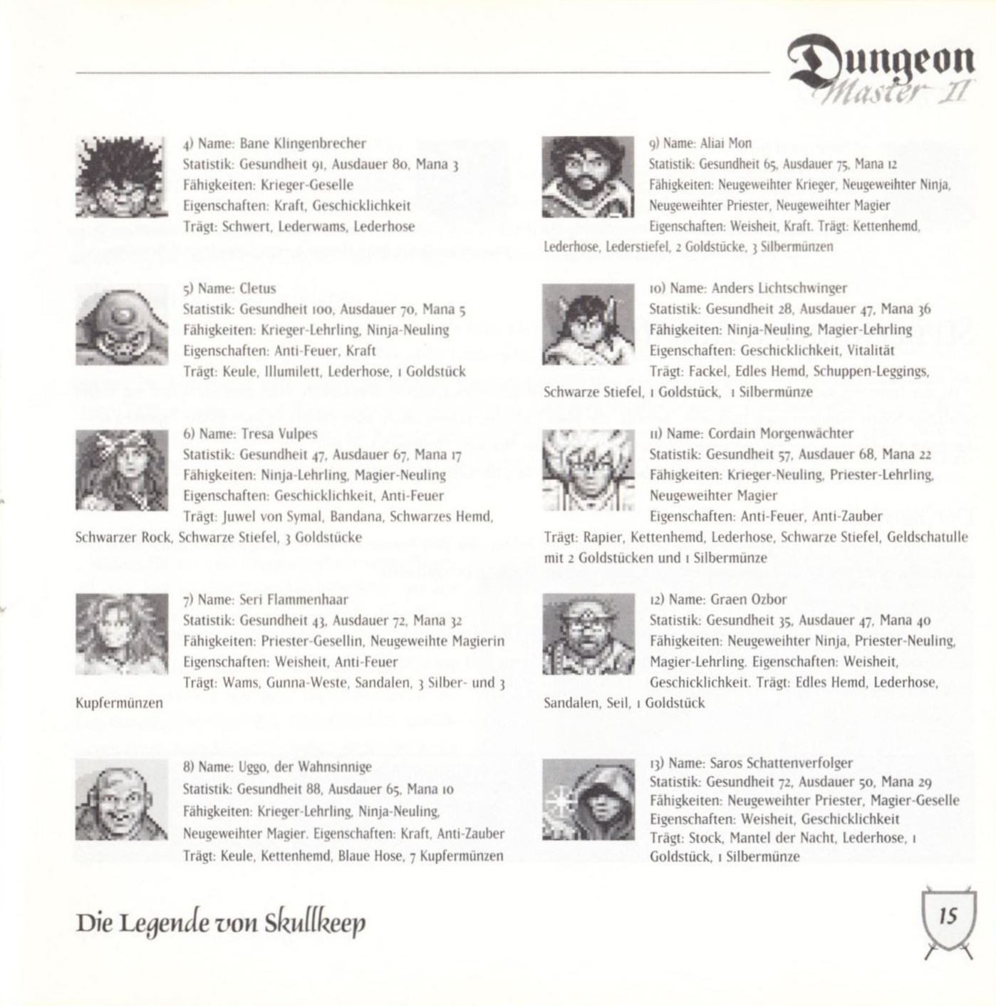 Game - Dungeon Master II - DE - PC - Blackmarket With Booklet - Booklet - Page 017 - Scan