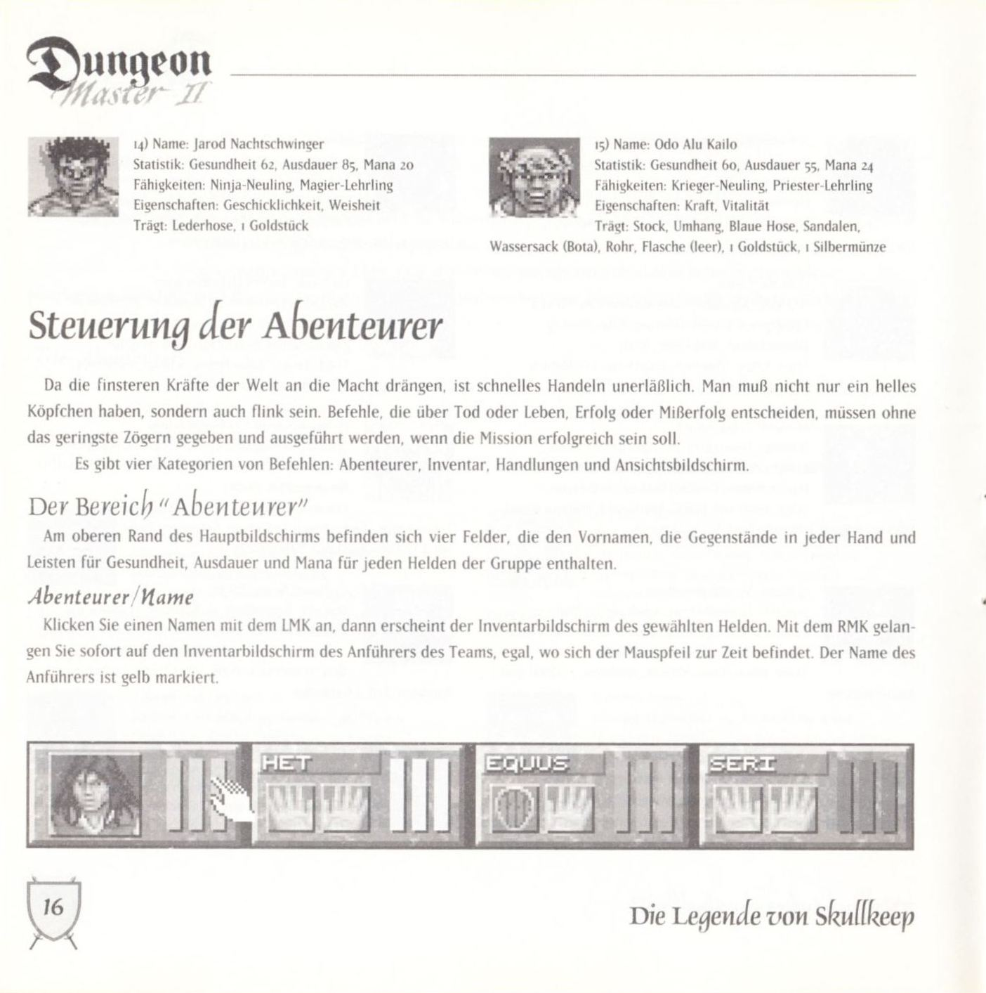 Game - Dungeon Master II - DE - PC - Blackmarket With Booklet - Booklet - Page 018 - Scan