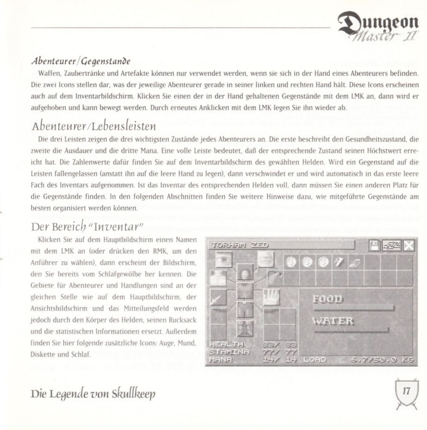 Game - Dungeon Master II - DE - PC - Blackmarket With Booklet - Booklet - Page 019 - Scan