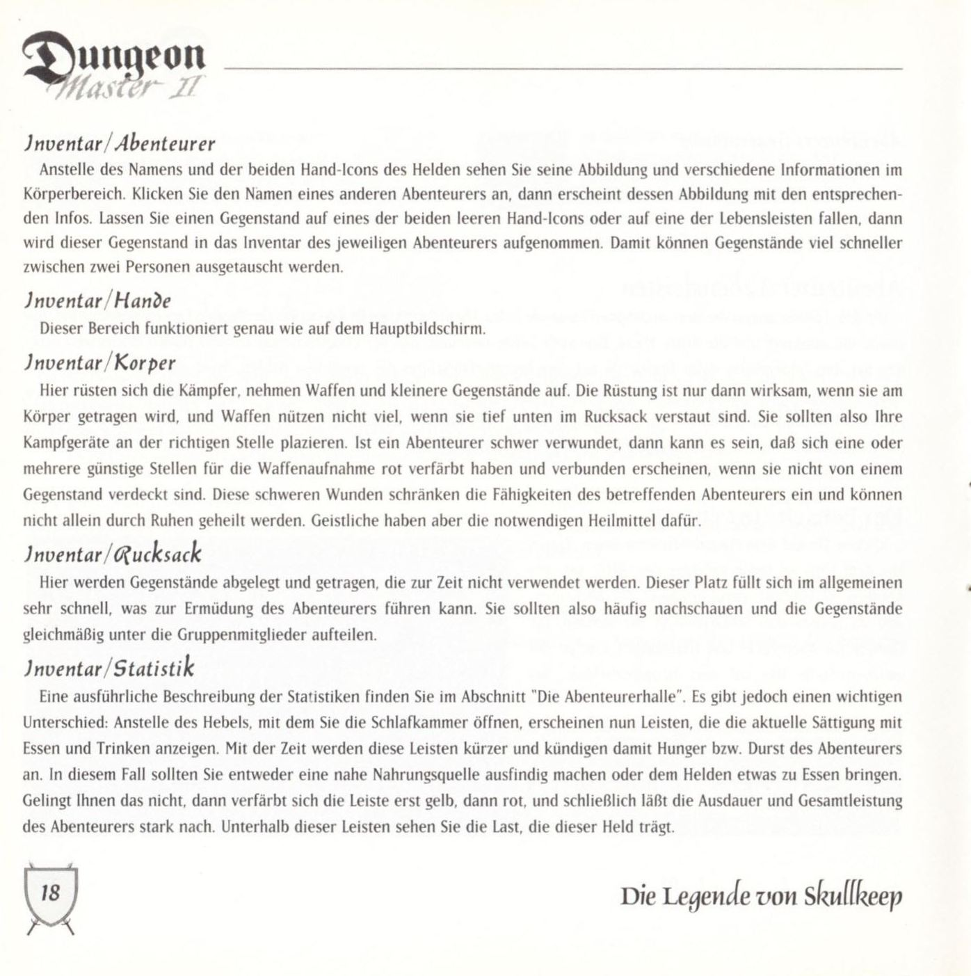 Game - Dungeon Master II - DE - PC - Blackmarket With Booklet - Booklet - Page 020 - Scan
