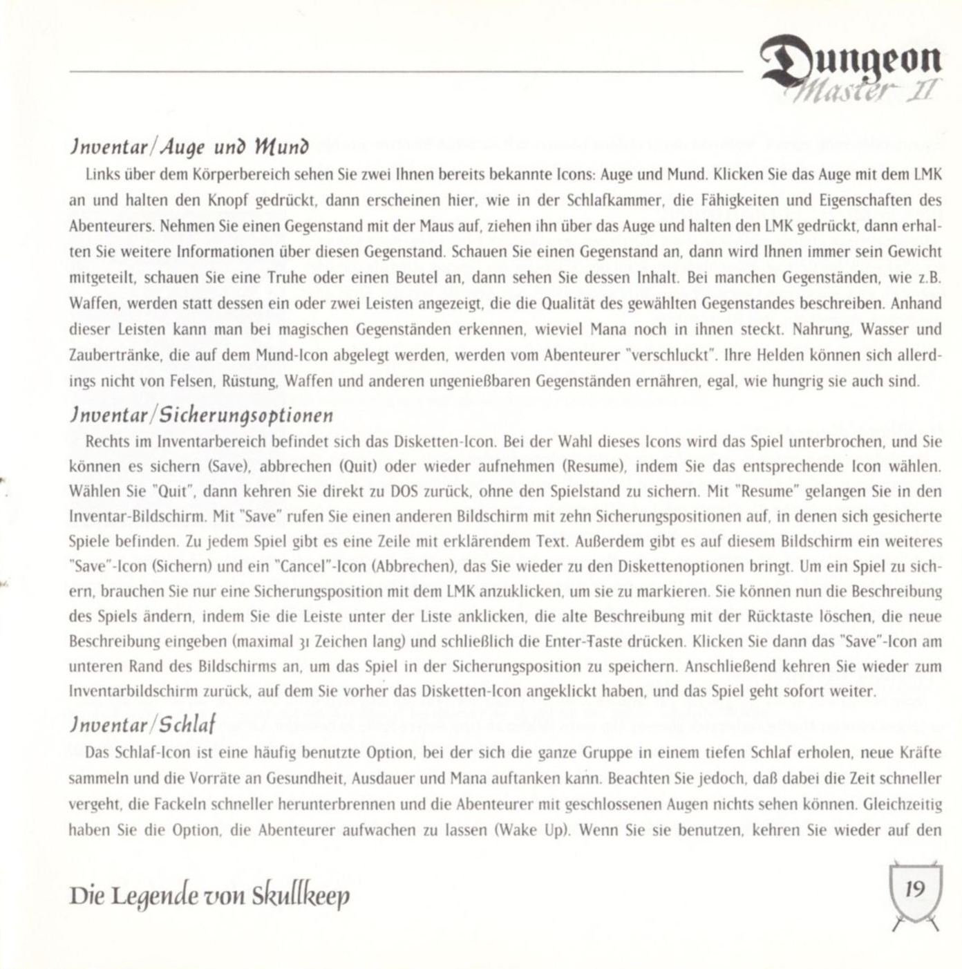 Game - Dungeon Master II - DE - PC - Blackmarket With Booklet - Booklet - Page 021 - Scan