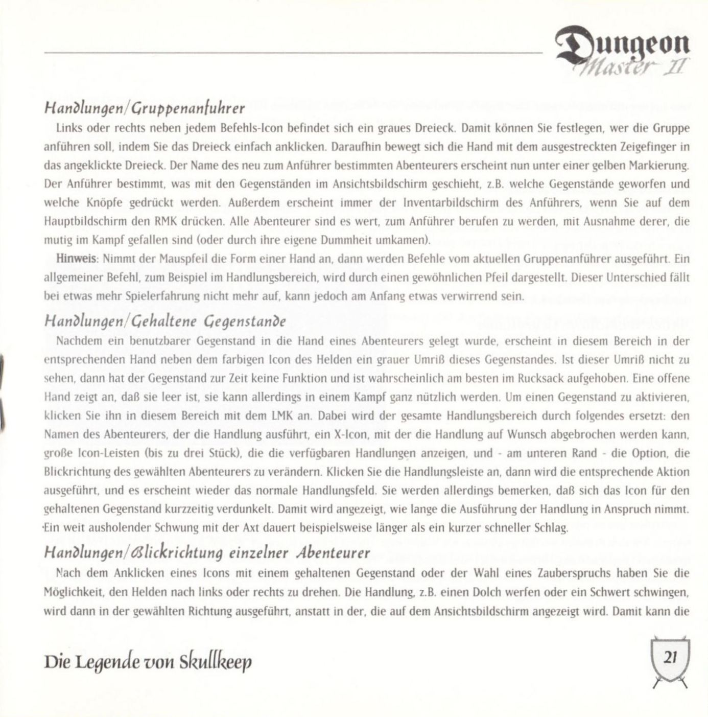 Game - Dungeon Master II - DE - PC - Blackmarket With Booklet - Booklet - Page 023 - Scan