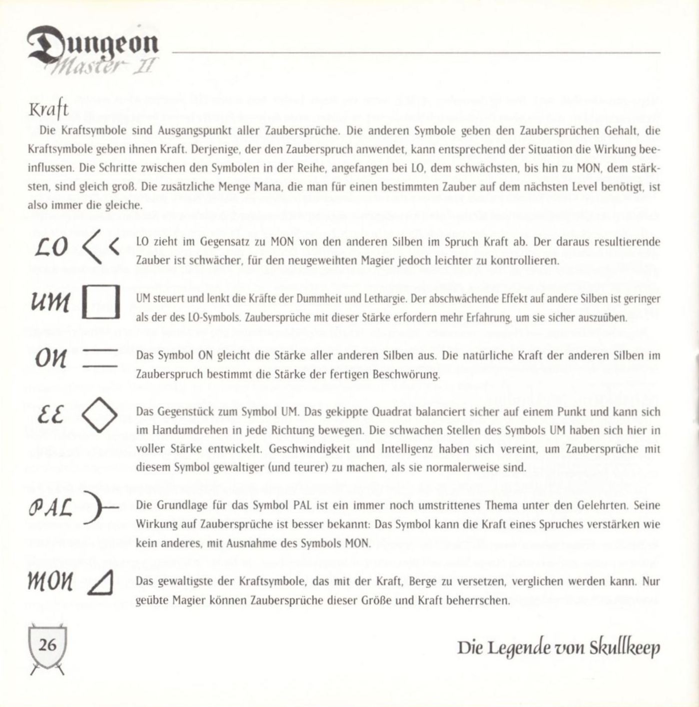 Game - Dungeon Master II - DE - PC - Blackmarket With Booklet - Booklet - Page 028 - Scan