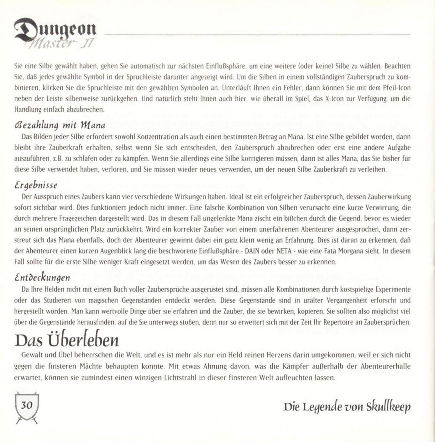 Game - Dungeon Master II - DE - PC - Blackmarket With Booklet - Booklet - Page 032 - Scan