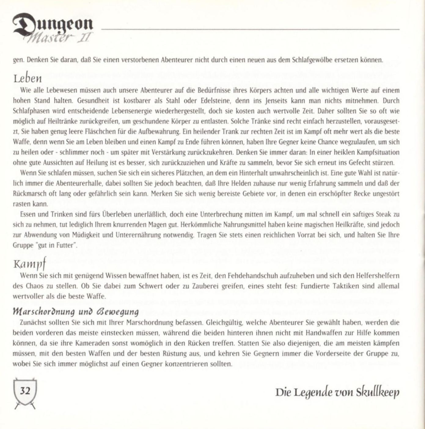 Game - Dungeon Master II - DE - PC - Blackmarket With Booklet - Booklet - Page 034 - Scan