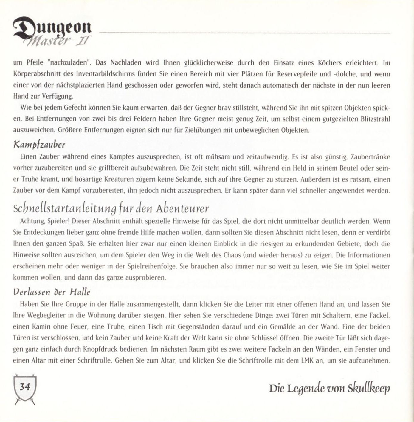 Game - Dungeon Master II - DE - PC - Blackmarket With Booklet - Booklet - Page 036 - Scan