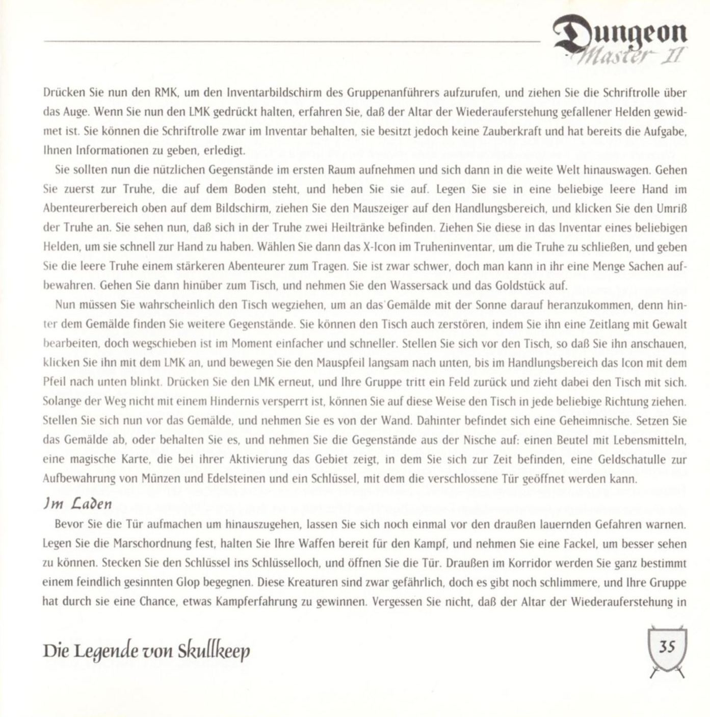 Game - Dungeon Master II - DE - PC - Blackmarket With Booklet - Booklet - Page 037 - Scan