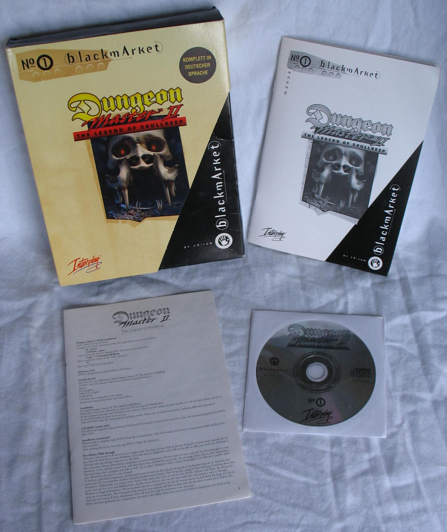 Game - Dungeon Master II - DE - PC - Blackmarket With Manual - All - Overview - Photo