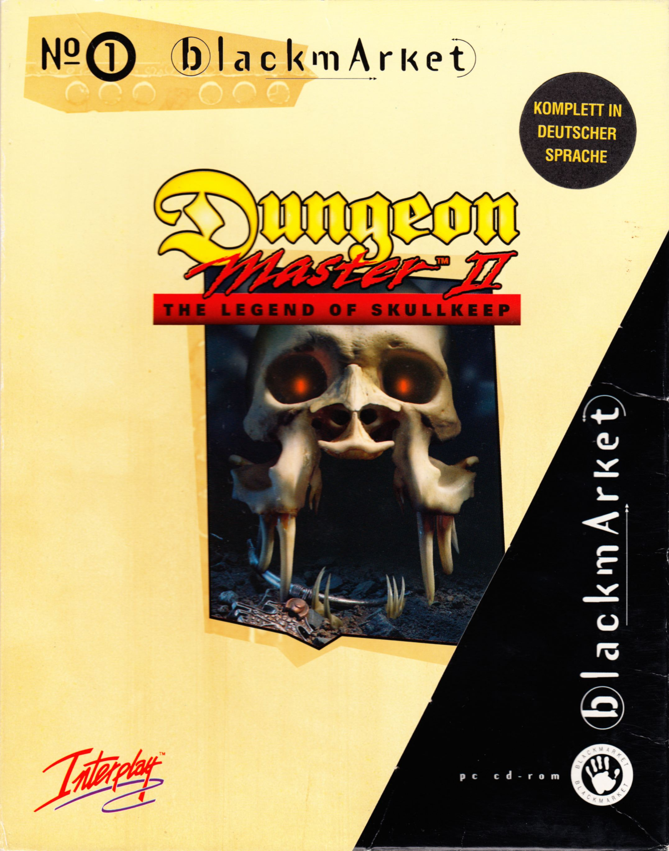 Game - Dungeon Master II - DE - PC - Blackmarket With Manual - Box With Sleeve With Sticker - Front - Scan