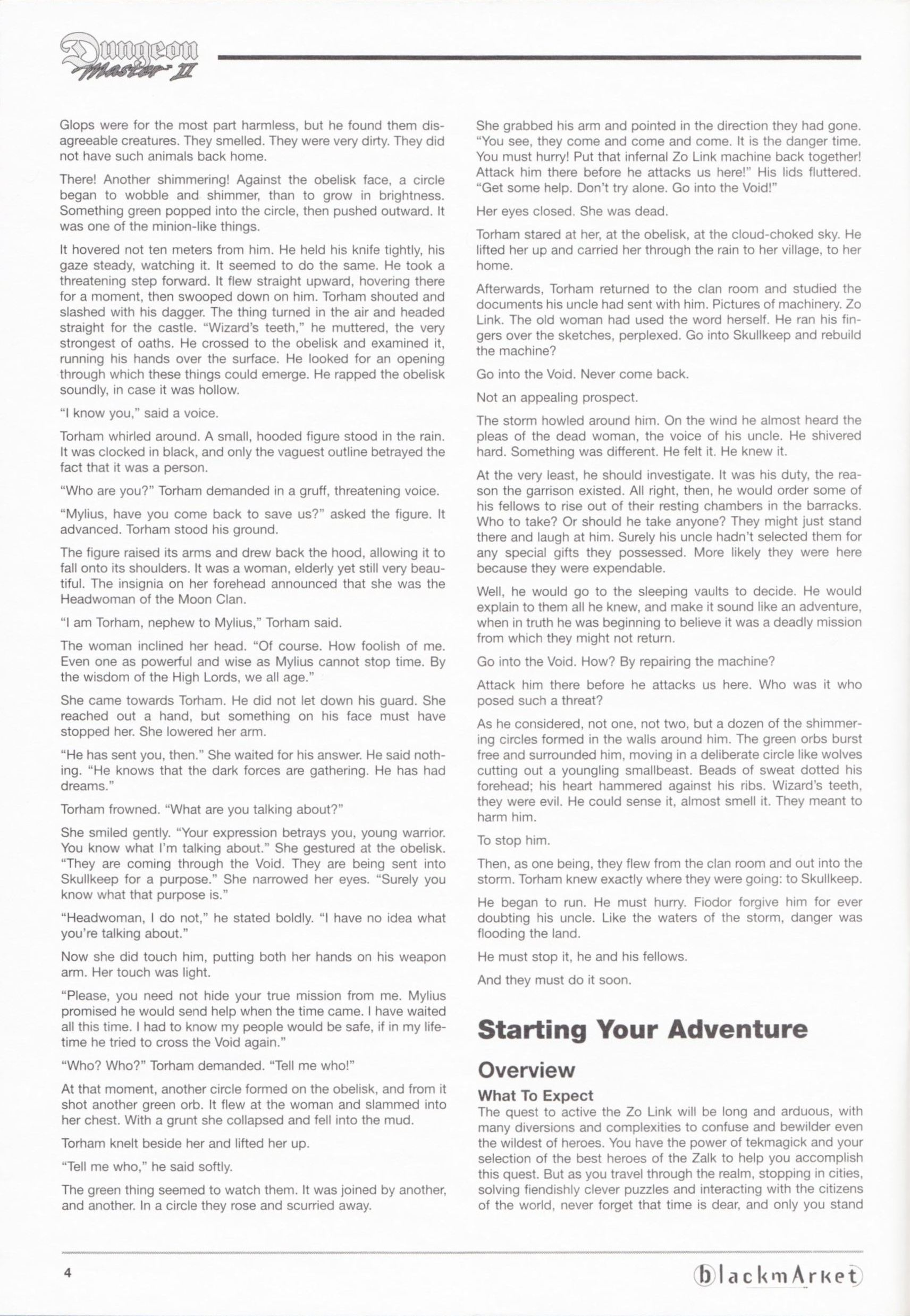 Game - Dungeon Master II - DE - PC - Blackmarket With Manual - Manual - Page 006 - Scan