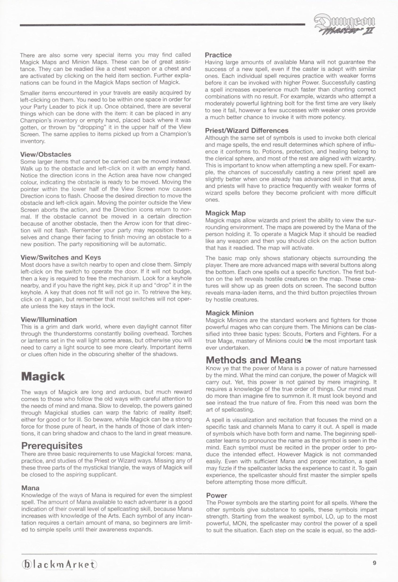 Game - Dungeon Master II - DE - PC - Blackmarket With Manual - Manual - Page 011 - Scan
