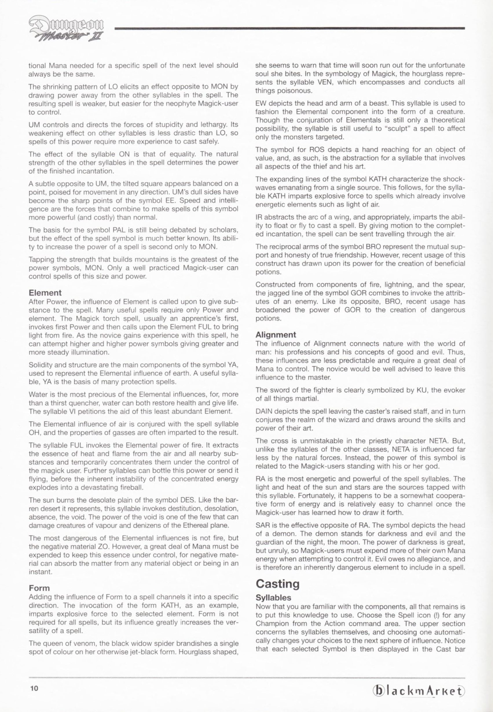 Game - Dungeon Master II - DE - PC - Blackmarket With Manual - Manual - Page 012 - Scan