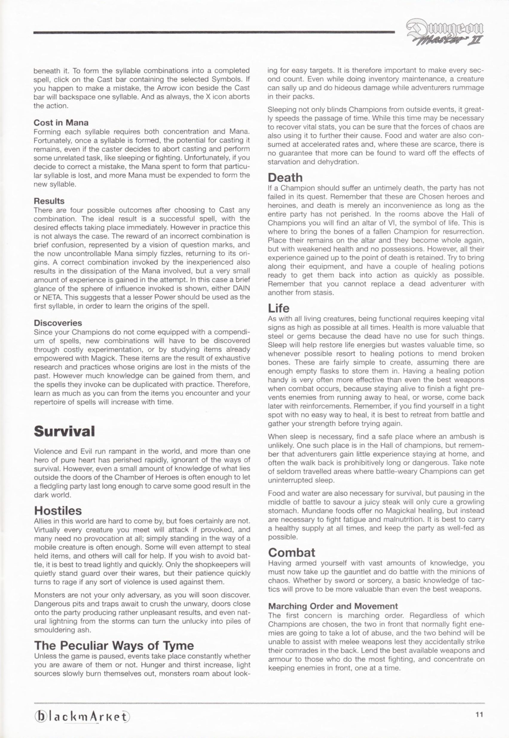 Game - Dungeon Master II - DE - PC - Blackmarket With Manual - Manual - Page 013 - Scan