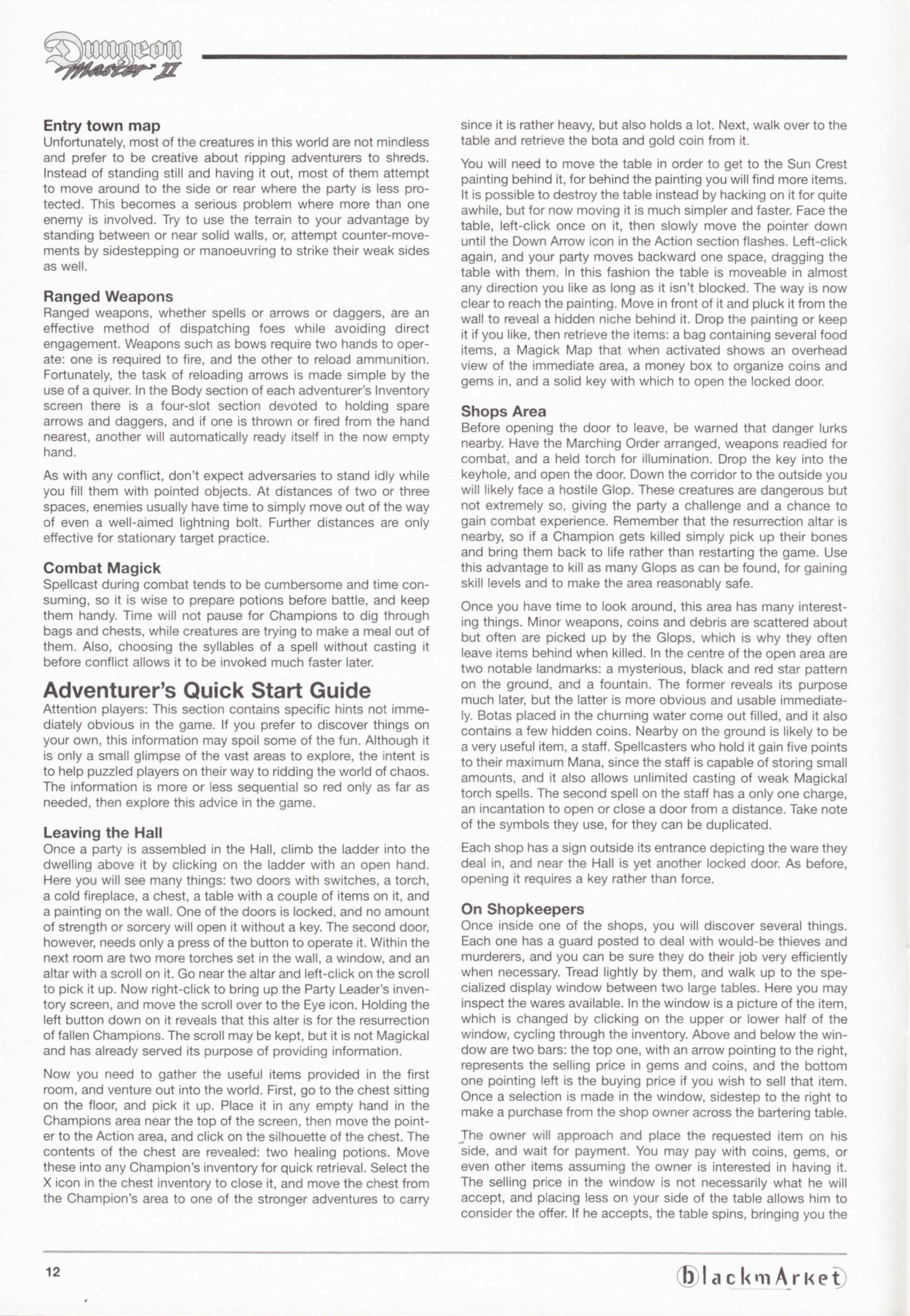 Game - Dungeon Master II - DE - PC - Blackmarket With Manual - Manual - Page 014 - Scan