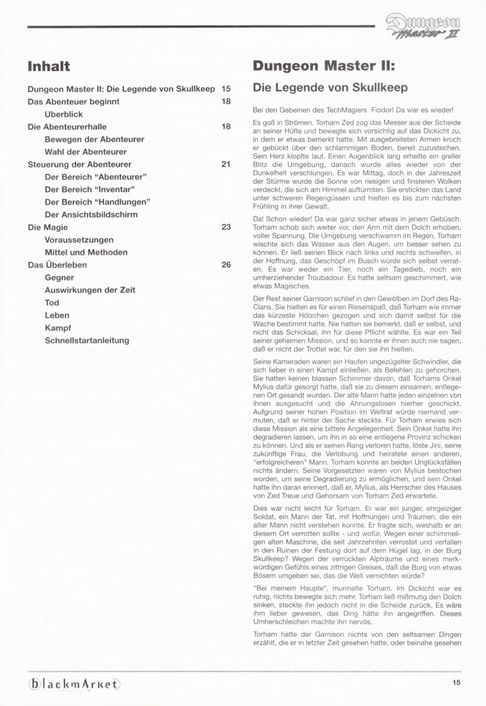 Game - Dungeon Master II - DE - PC - Blackmarket With Manual - Manual - Page 017 - Scan