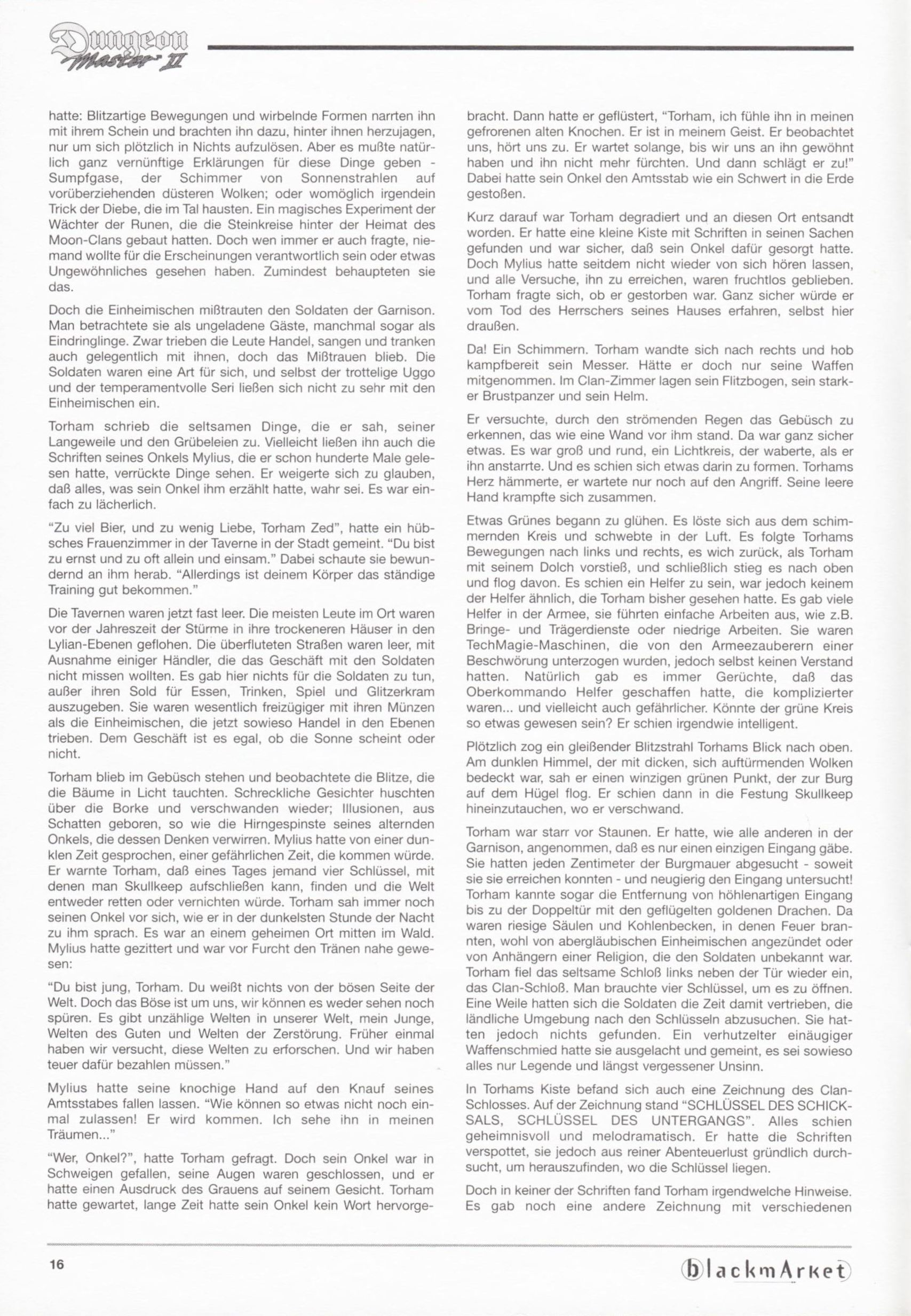 Game - Dungeon Master II - DE - PC - Blackmarket With Manual - Manual - Page 018 - Scan