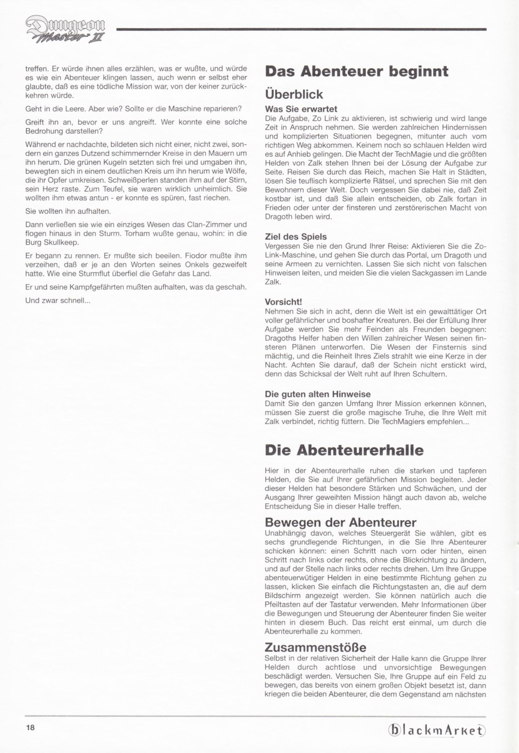 Game - Dungeon Master II - DE - PC - Blackmarket With Manual - Manual - Page 020 - Scan