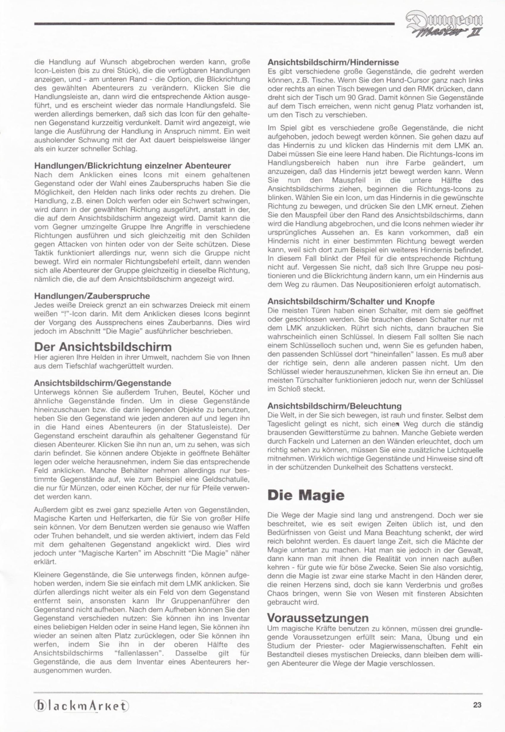Game - Dungeon Master II - DE - PC - Blackmarket With Manual - Manual - Page 025 - Scan