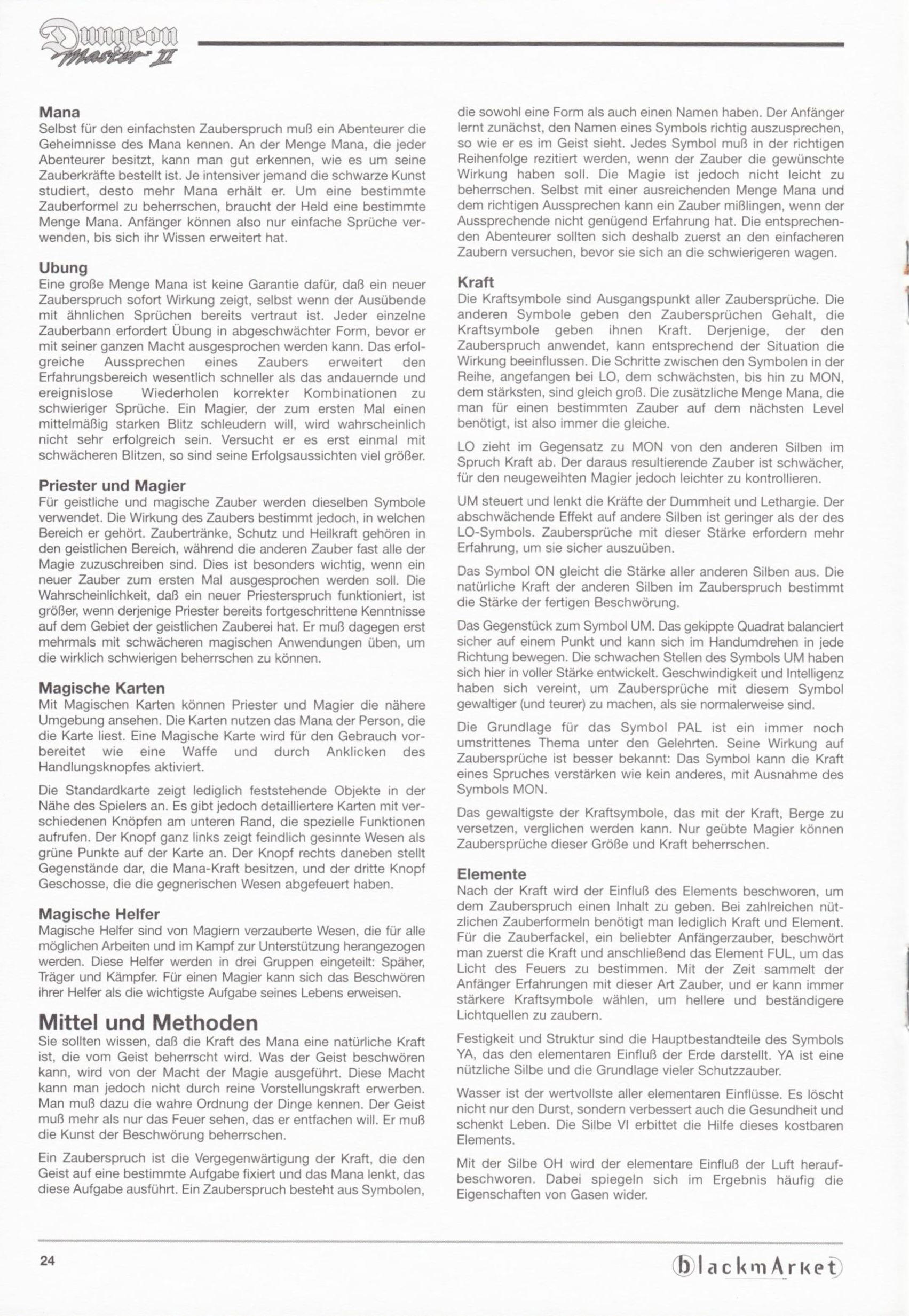 Game - Dungeon Master II - DE - PC - Blackmarket With Manual - Manual - Page 026 - Scan