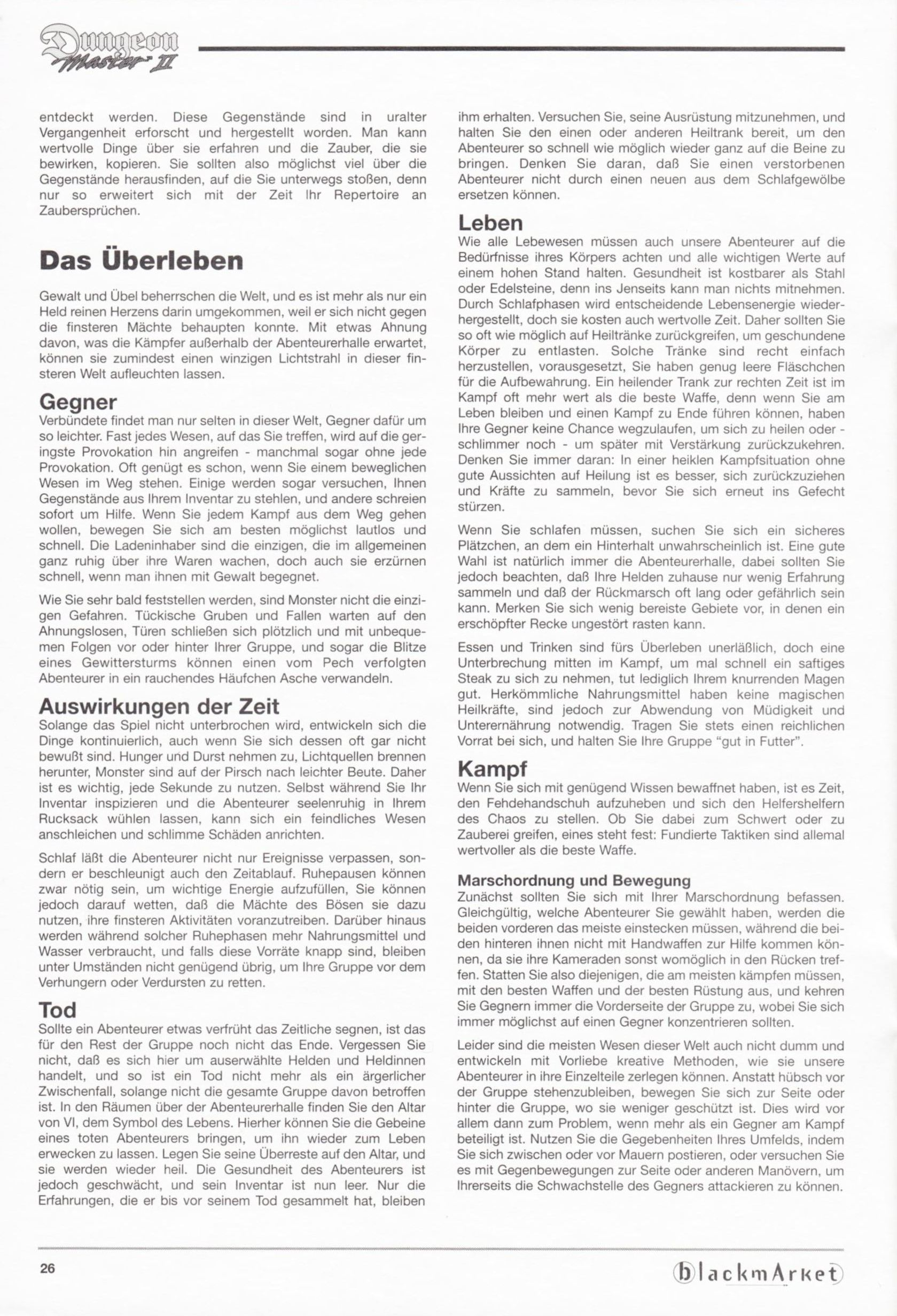 Game - Dungeon Master II - DE - PC - Blackmarket With Manual - Manual - Page 028 - Scan
