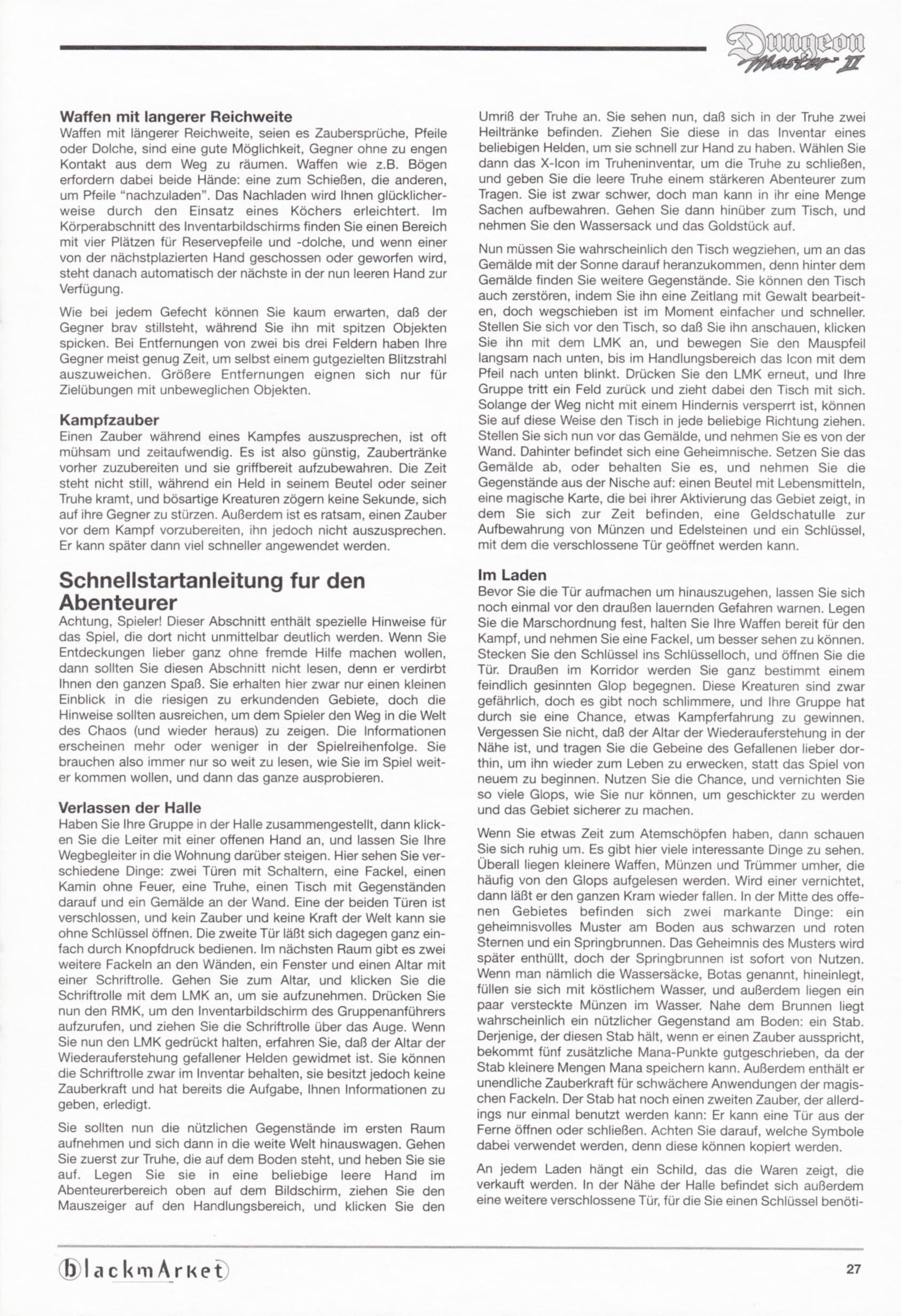 Game - Dungeon Master II - DE - PC - Blackmarket With Manual - Manual - Page 029 - Scan