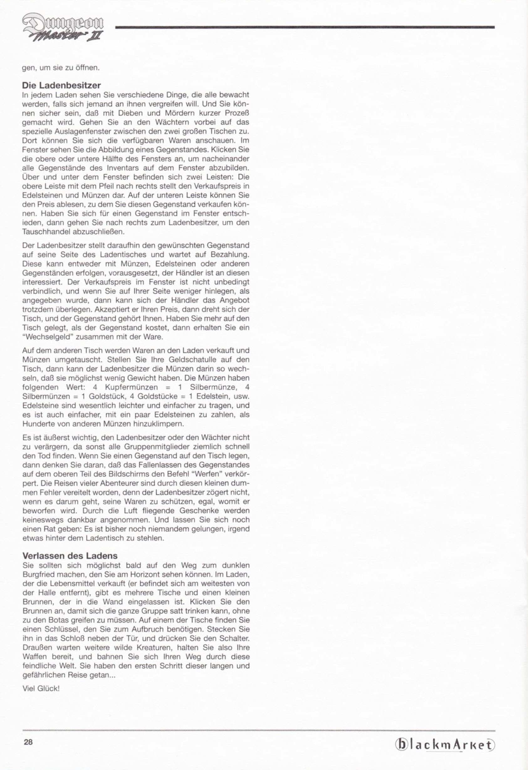 Game - Dungeon Master II - DE - PC - Blackmarket With Manual - Manual - Page 030 - Scan
