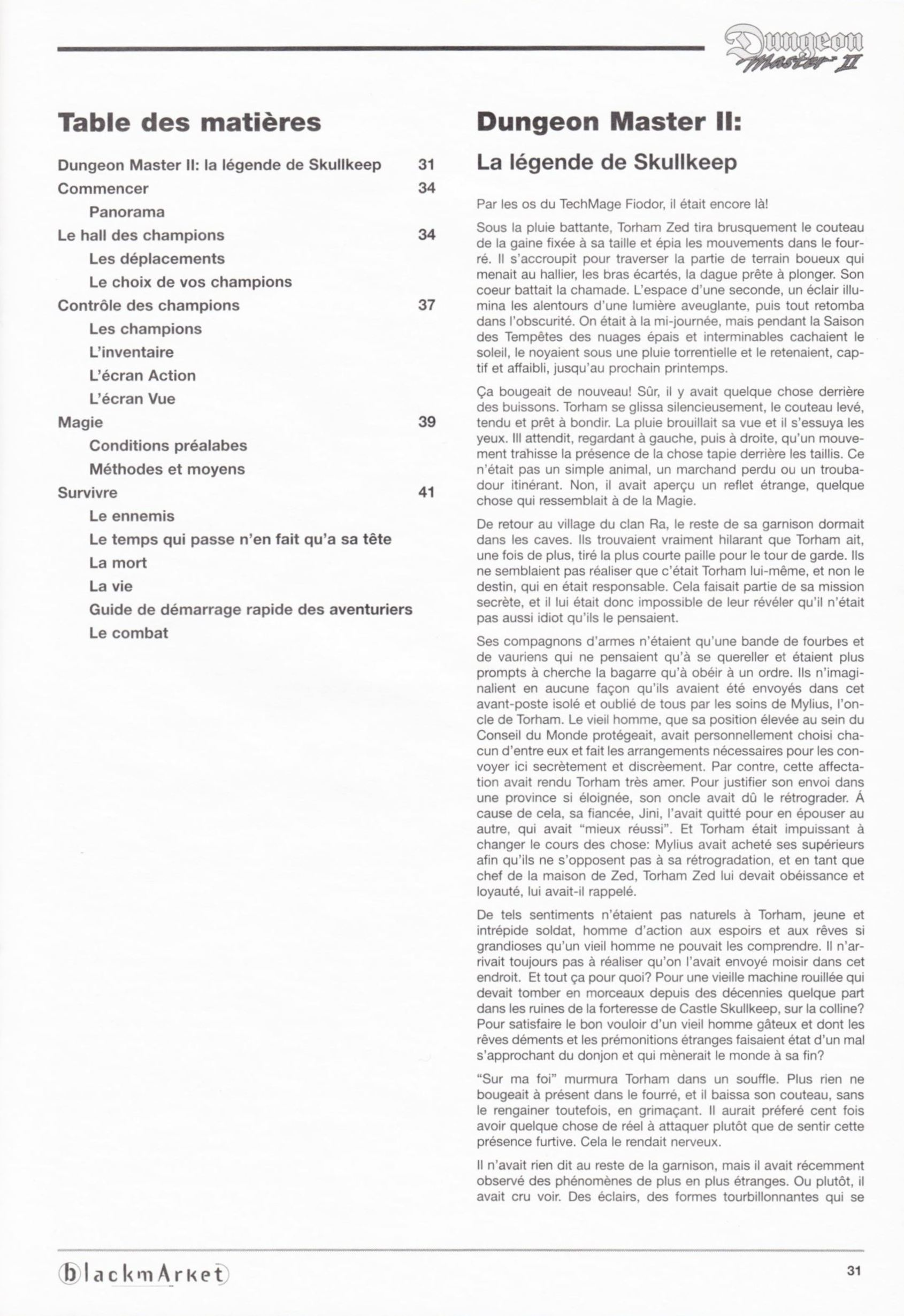Game - Dungeon Master II - DE - PC - Blackmarket With Manual - Manual - Page 033 - Scan