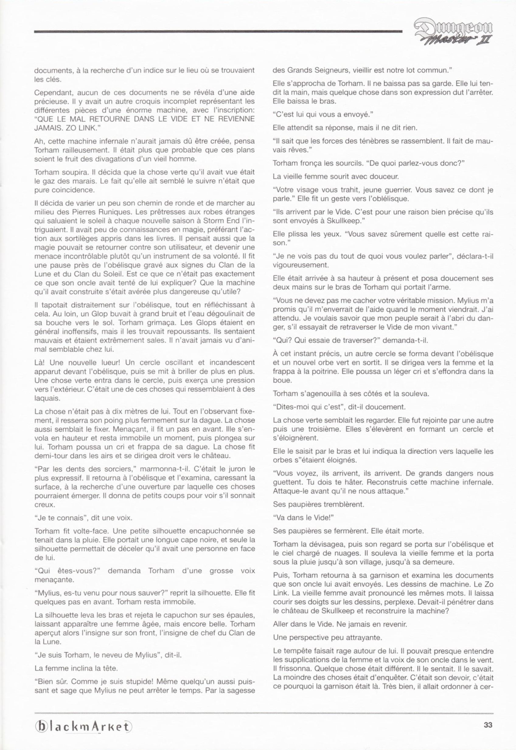 Game - Dungeon Master II - DE - PC - Blackmarket With Manual - Manual - Page 035 - Scan