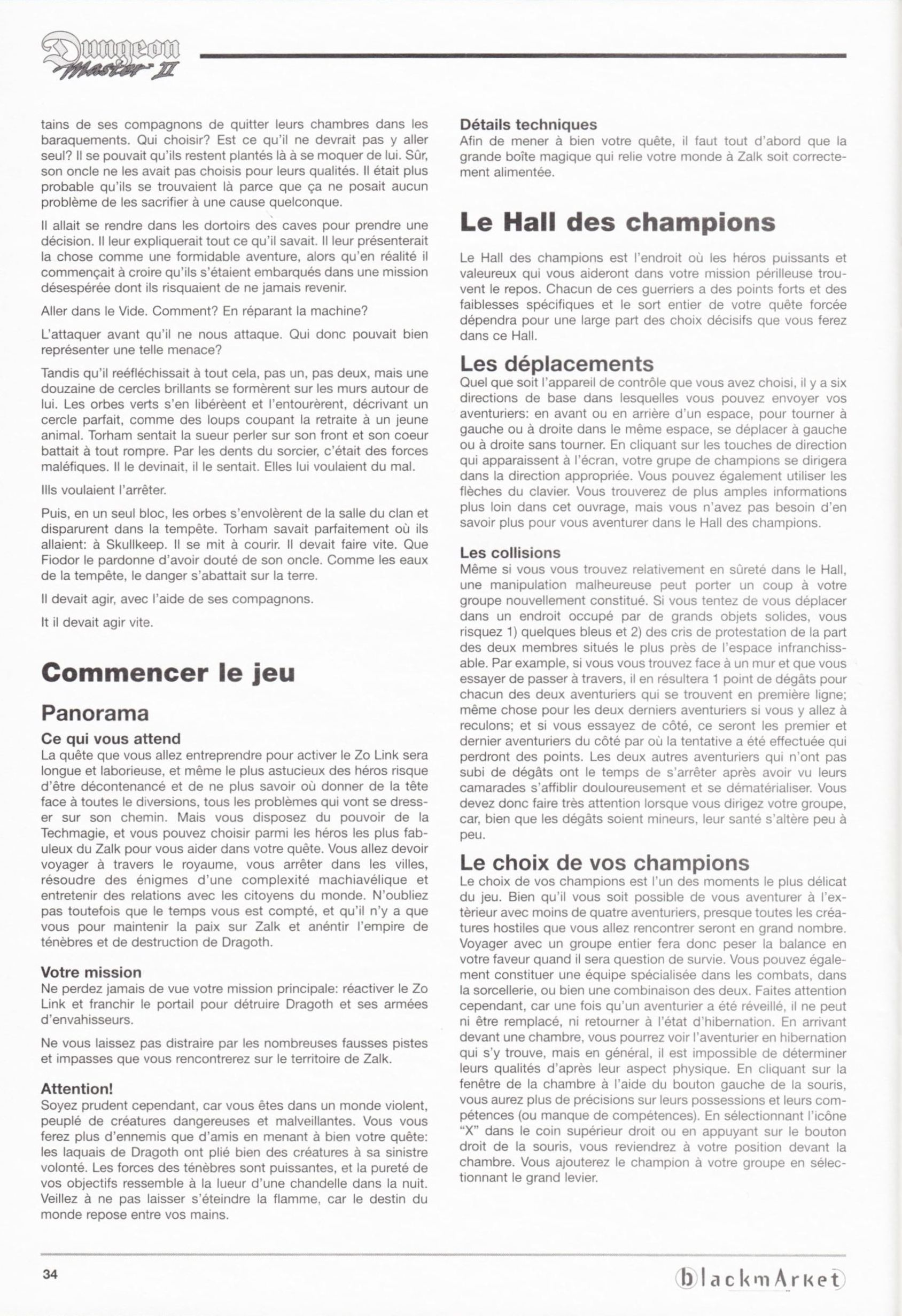 Game - Dungeon Master II - DE - PC - Blackmarket With Manual - Manual - Page 036 - Scan