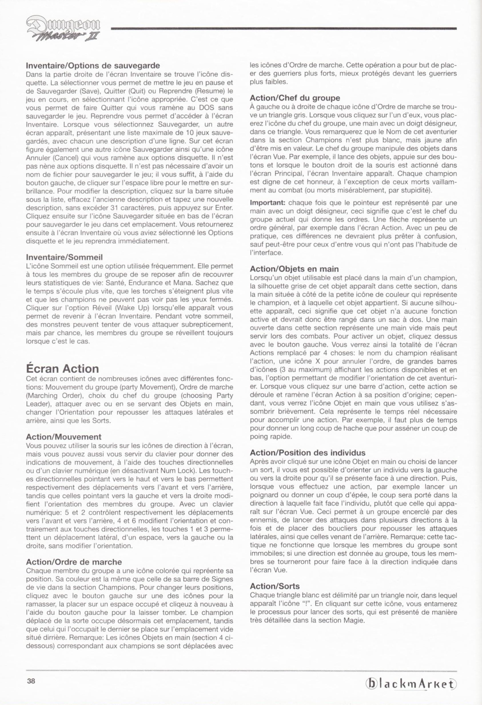 Game - Dungeon Master II - DE - PC - Blackmarket With Manual - Manual - Page 040 - Scan