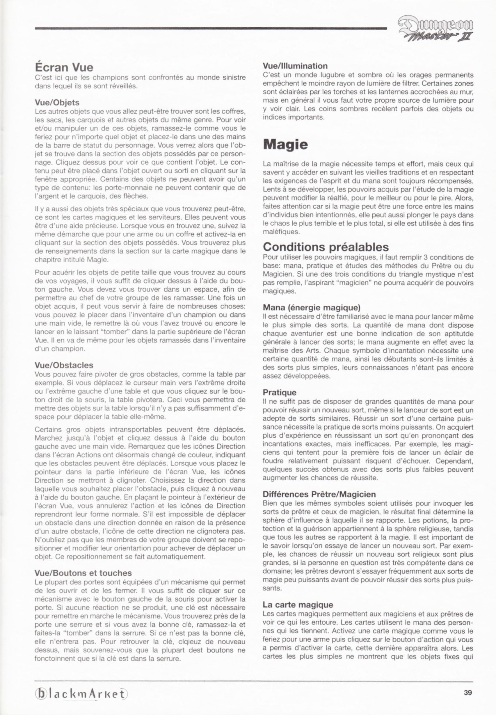 Game - Dungeon Master II - DE - PC - Blackmarket With Manual - Manual - Page 041 - Scan