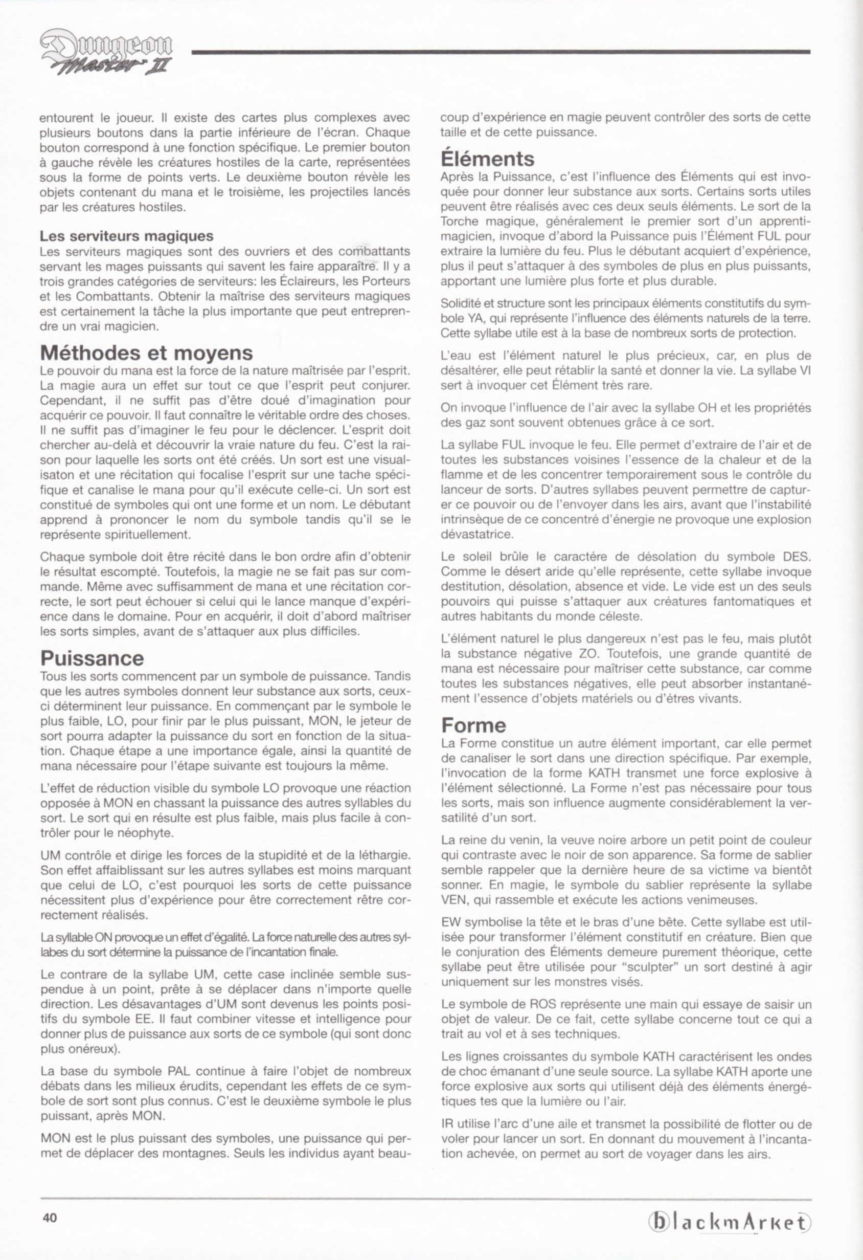 Game - Dungeon Master II - DE - PC - Blackmarket With Manual - Manual - Page 042 - Scan