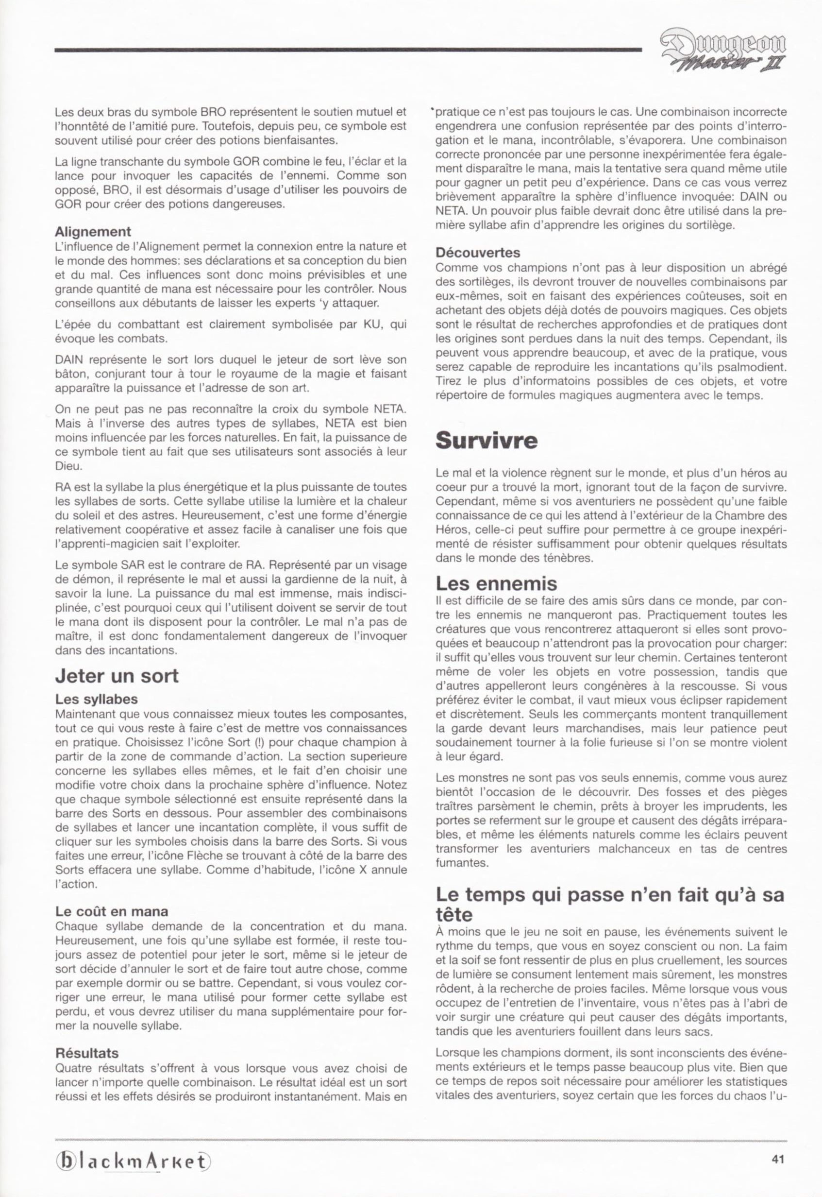 Game - Dungeon Master II - DE - PC - Blackmarket With Manual - Manual - Page 043 - Scan