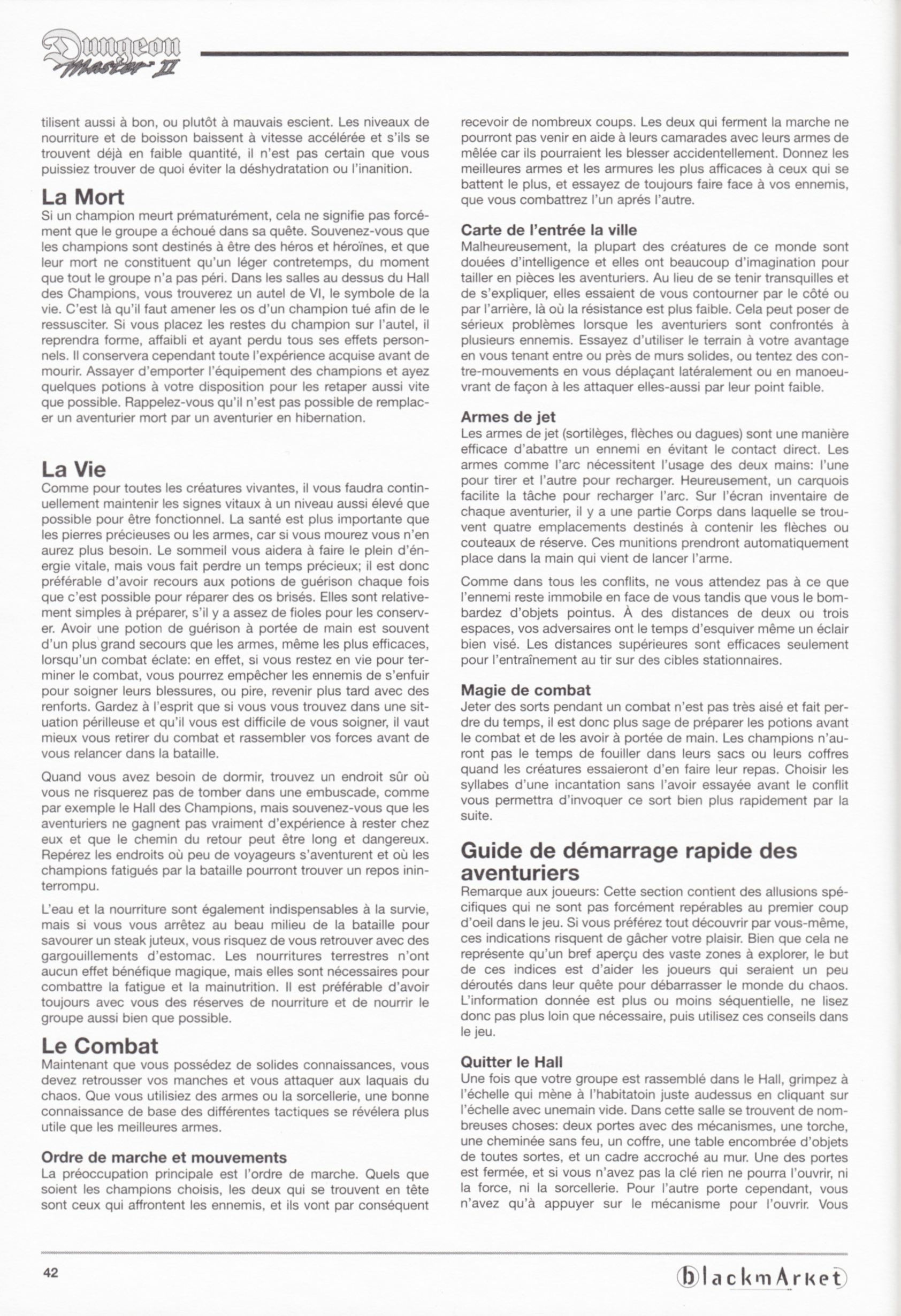 Game - Dungeon Master II - DE - PC - Blackmarket With Manual - Manual - Page 044 - Scan
