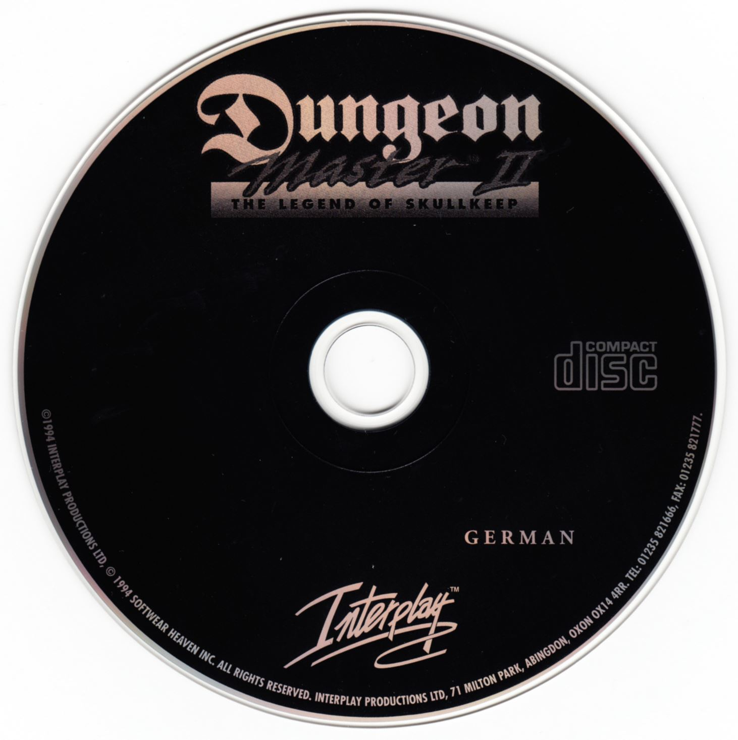 Game - Dungeon Master II - DE - PC - CD Version - Compact Disc - Front - Scan