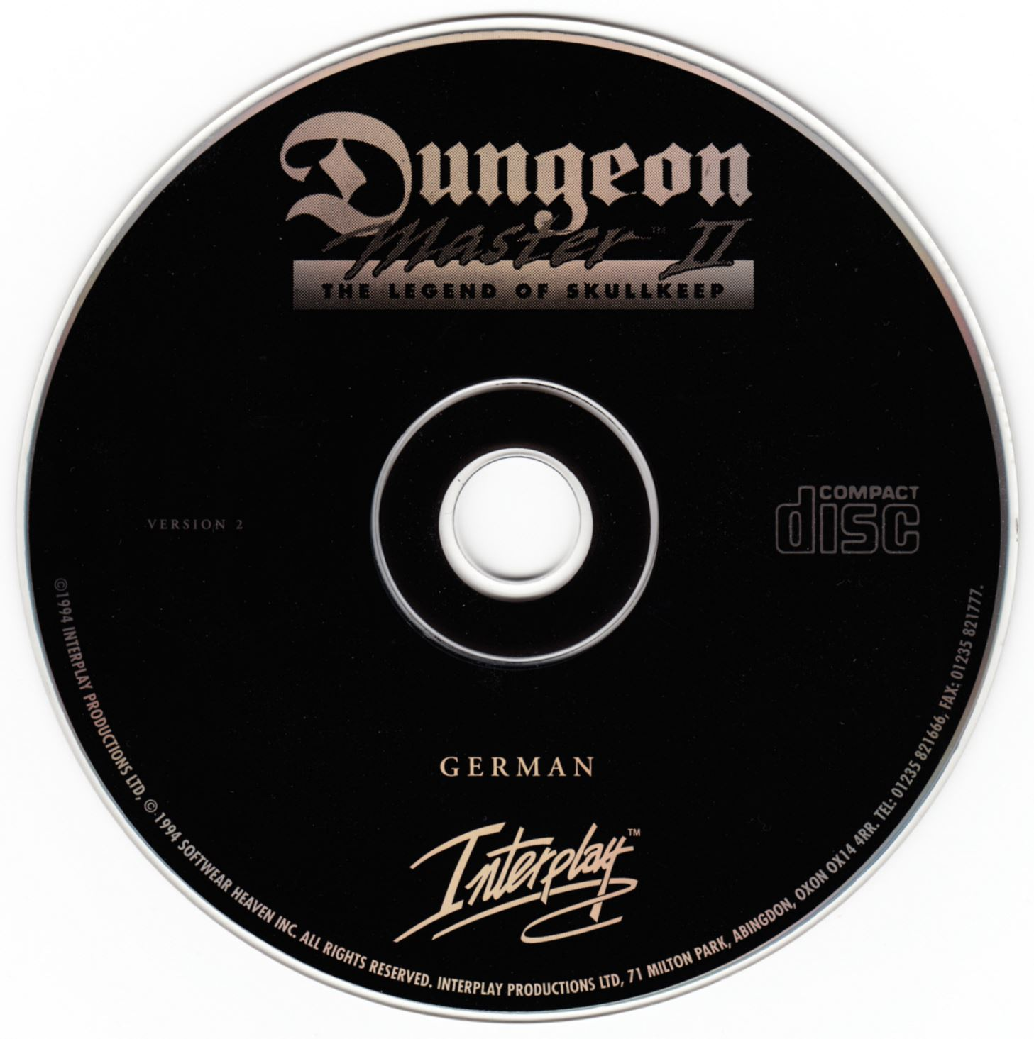 Game - Dungeon Master II - DE - PC - Jewel Case - Compact Disc - Front - Scan