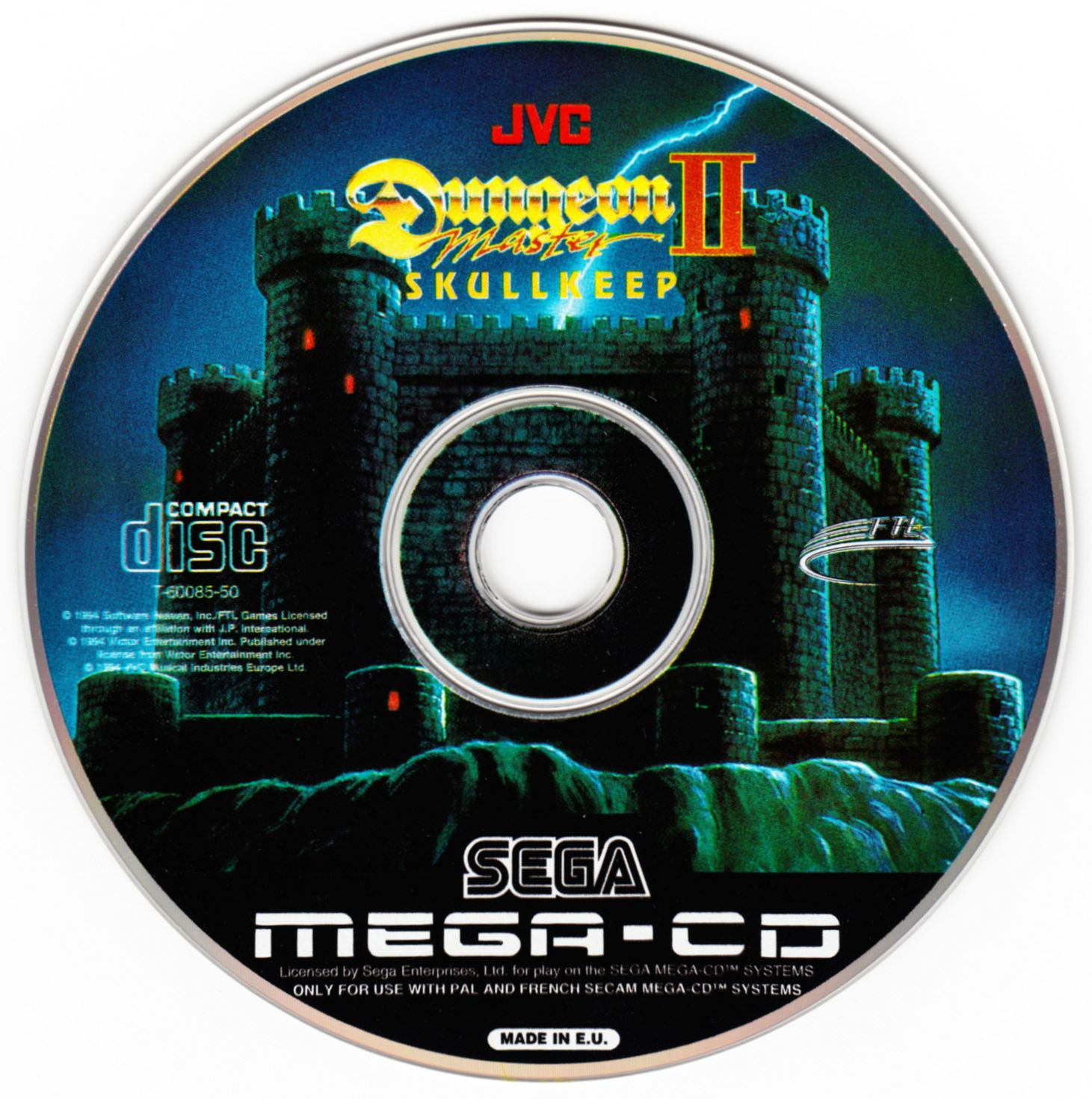 Game - Dungeon Master II - EU - Mega CD - Compact Disc - Front - Scan